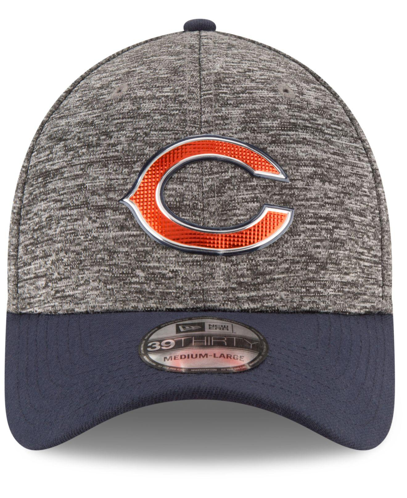 4a72cd1cd4ffc1 ... where can i buy lyst ktz chicago bears 2016 nfl draft 39thirty cap in  gray for