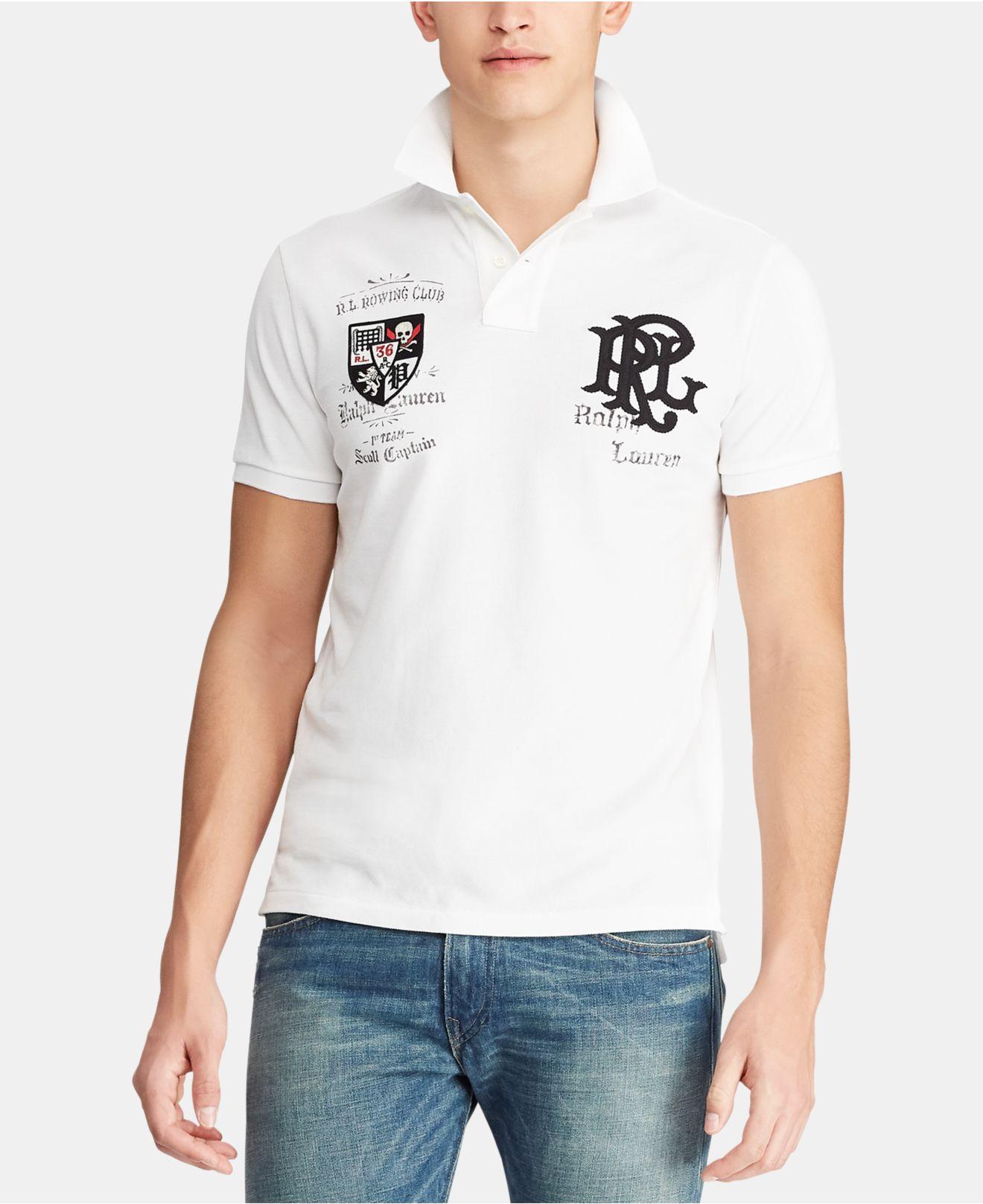 bf2446643be1c Lyst - Polo Ralph Lauren Custom Slim Fit Mesh Polo in White for Men