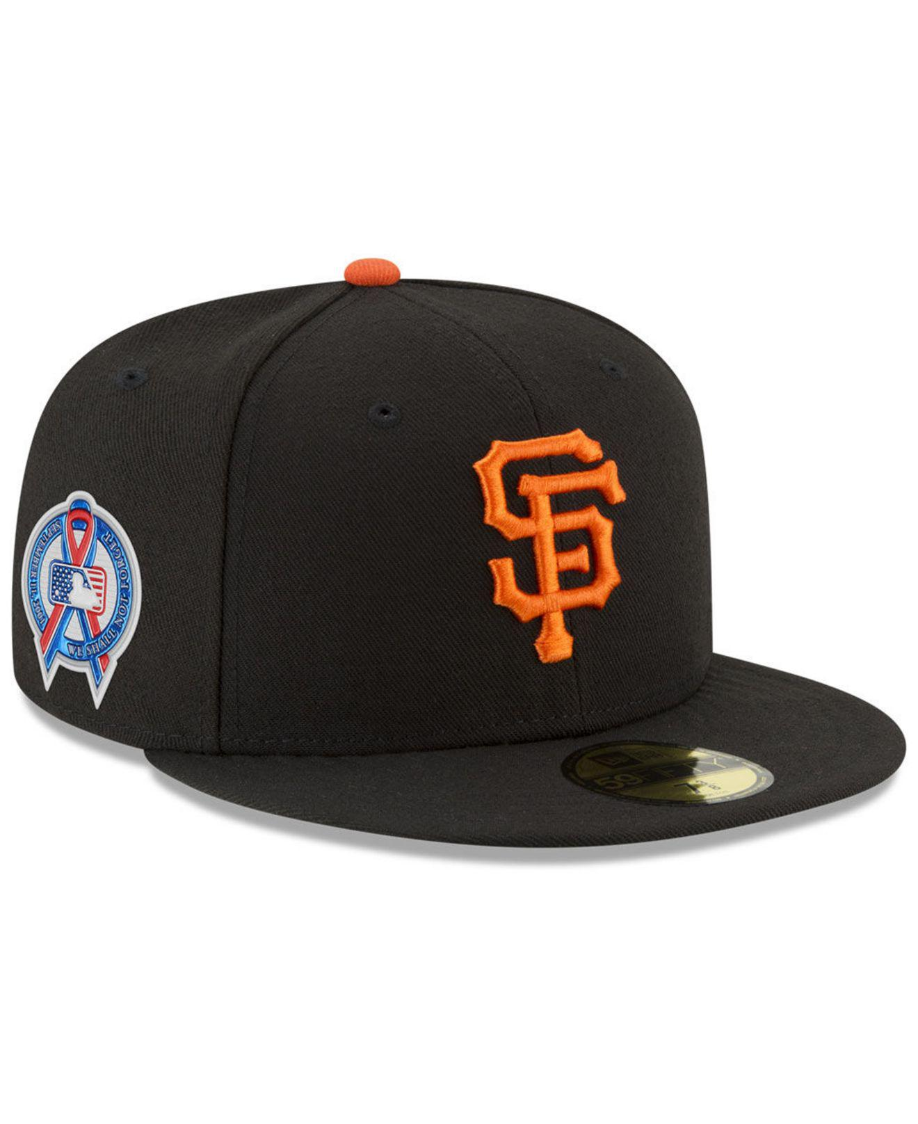 designer fashion a650e d4b79 KTZ. Men s Black San Francisco Giants 150th Anniversary 59fifty-fitted Cap