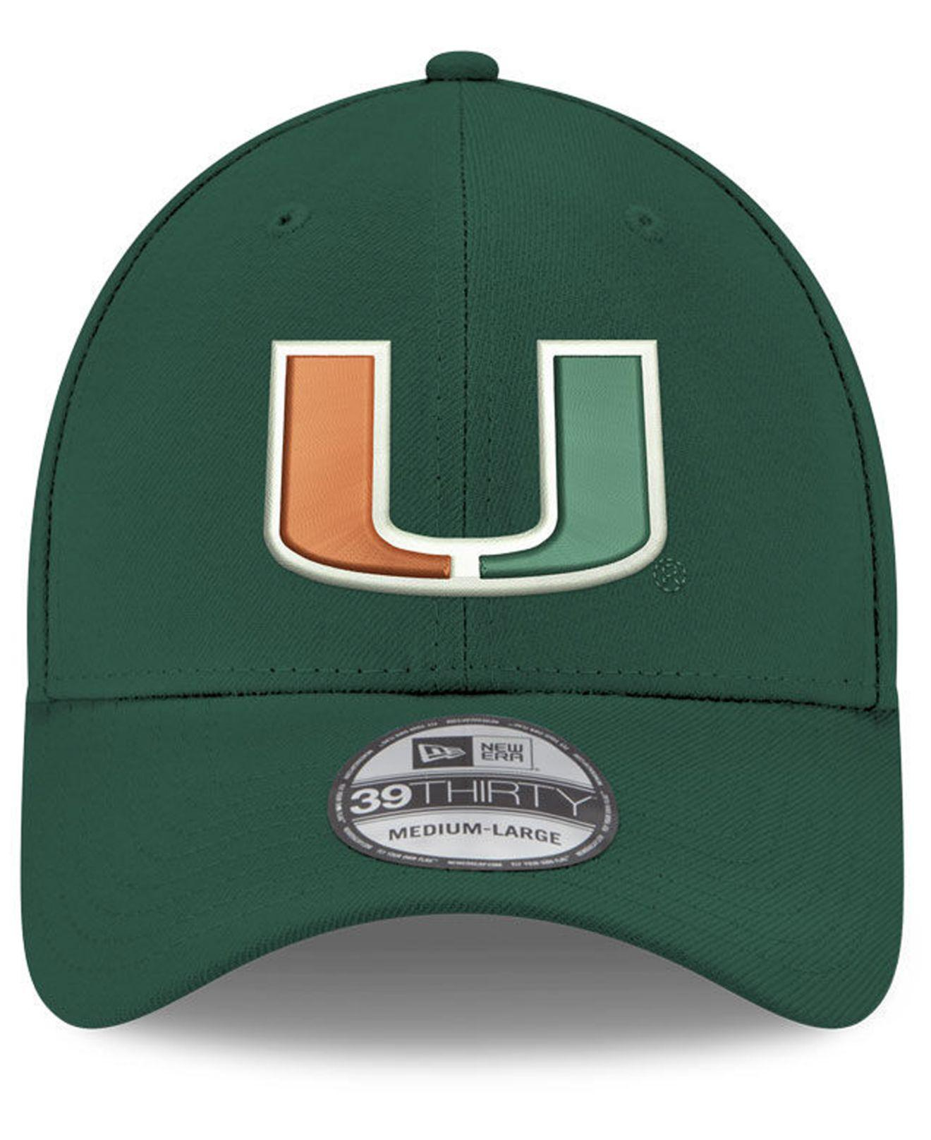 on sale 2ec36 91498 Lyst - Ktz Miami Hurricanes College Classic 39thirty Cap in Green for Men