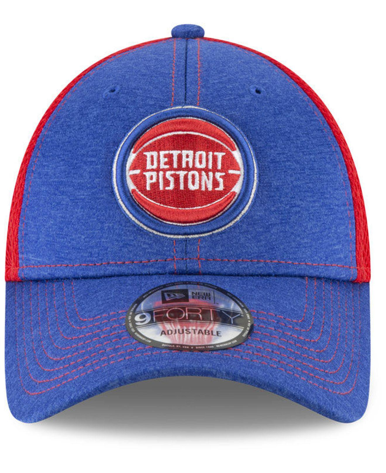 more photos 971ad b1681 Lyst - KTZ Detroit Pistons Shadow Turn 2 Adjustable Cap in Blue for Men