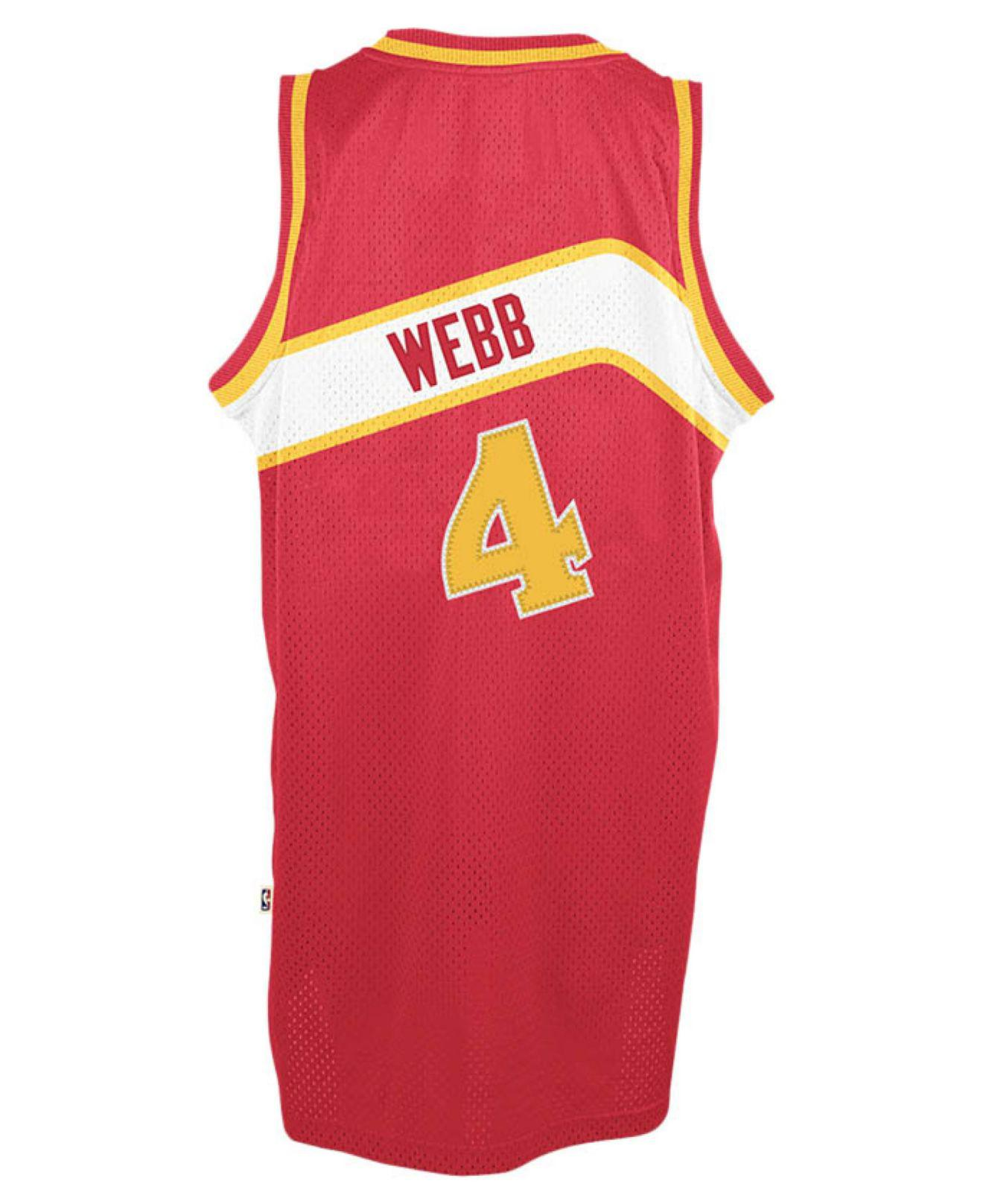 Lyst - Adidas Men s Spud Webb Atlanta Hawks Retired Player Swingman ... 54394317c