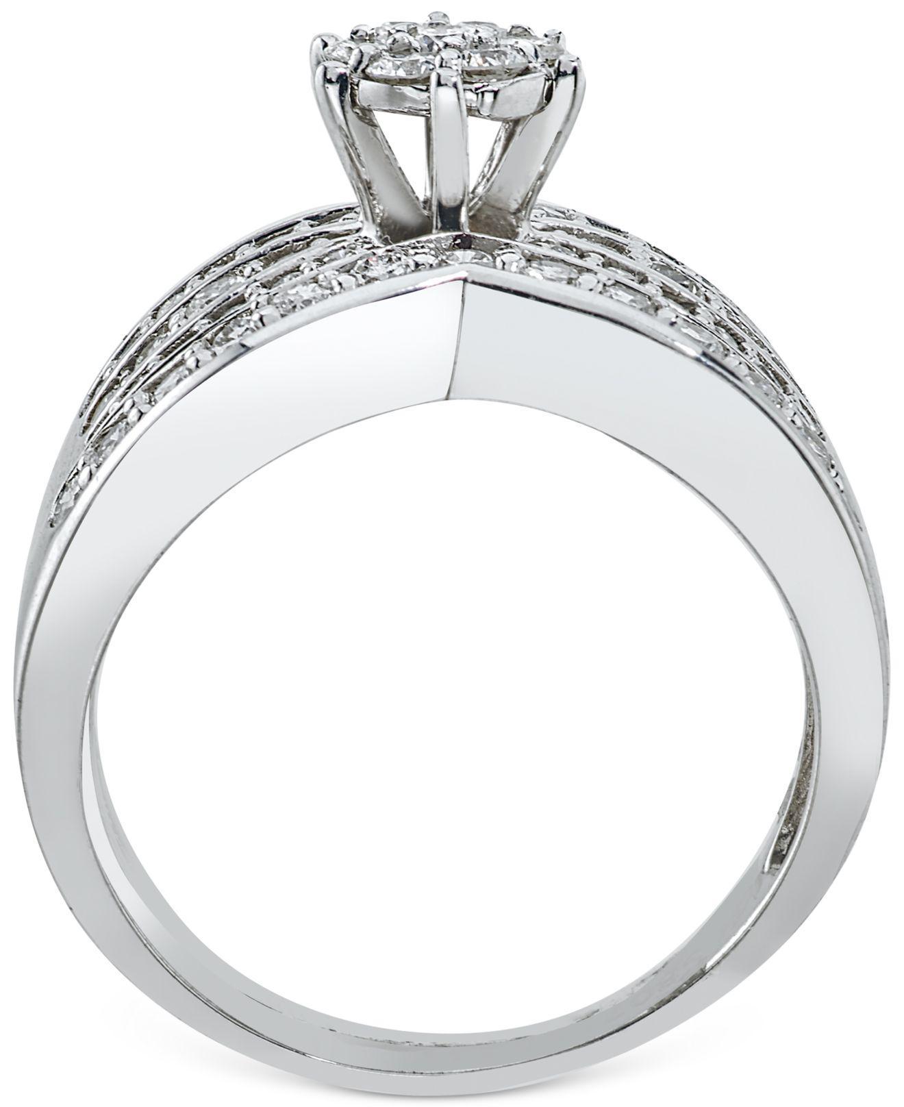 Macy s Diamond Bridal Set 7 8 Ct T w In 14k White Gold