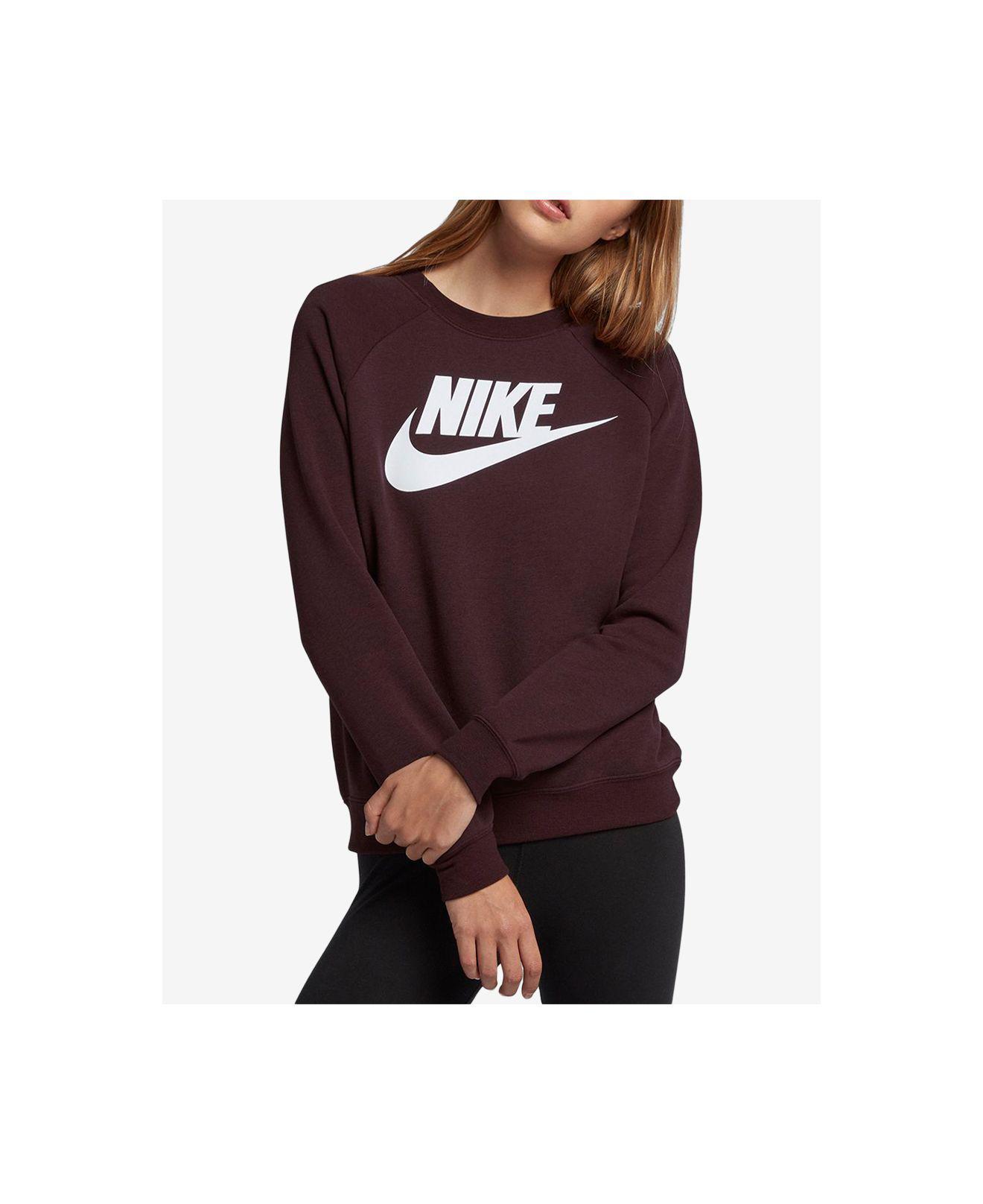 9684f4679d8e Nike - Purple Sportswear Rally Logo Fleece Sweatshirt - Lyst. View  fullscreen