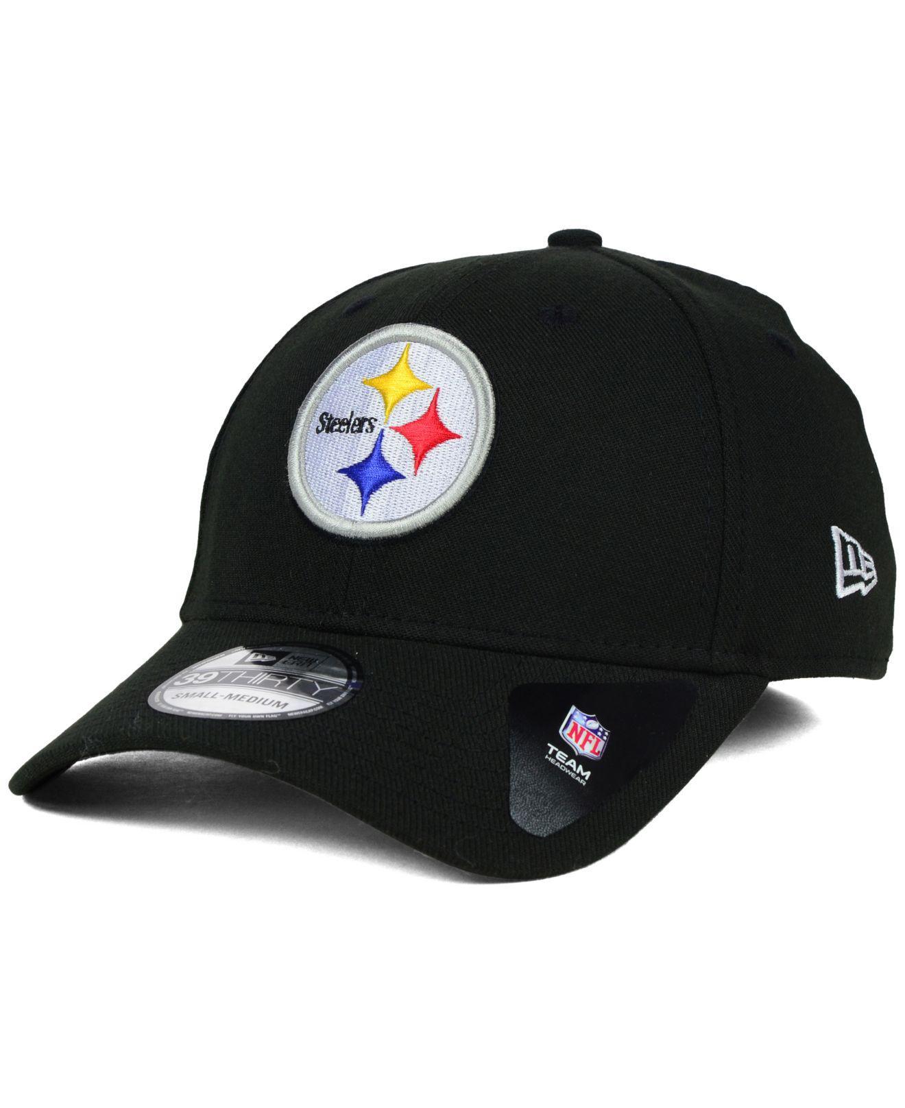 b73374f02aa Lyst - KTZ Pittsburgh Steelers Classic 39thirty Cap in Black for Men