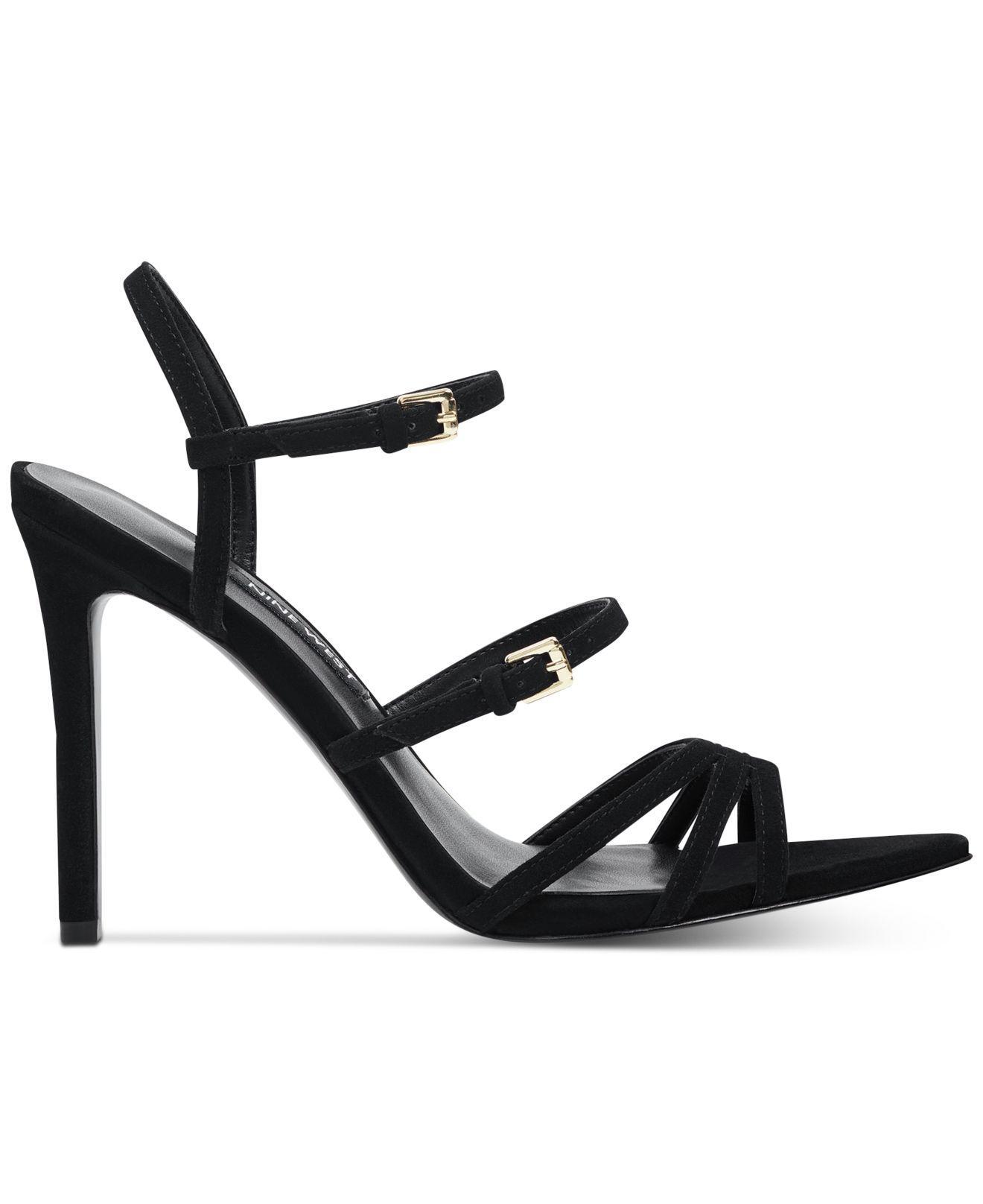 ffdf8decda66 Lyst - Nine West Gilficco Strappy Dress Sandals in Black