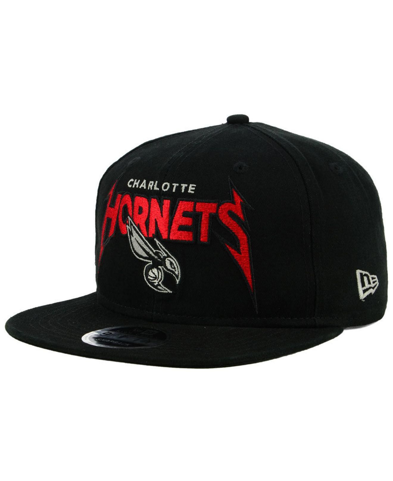 low priced 56363 d0146 ... promo code for ktz. mens black charlotte hornets 90s throwback groupie 9fifty  snapback cap e28d6