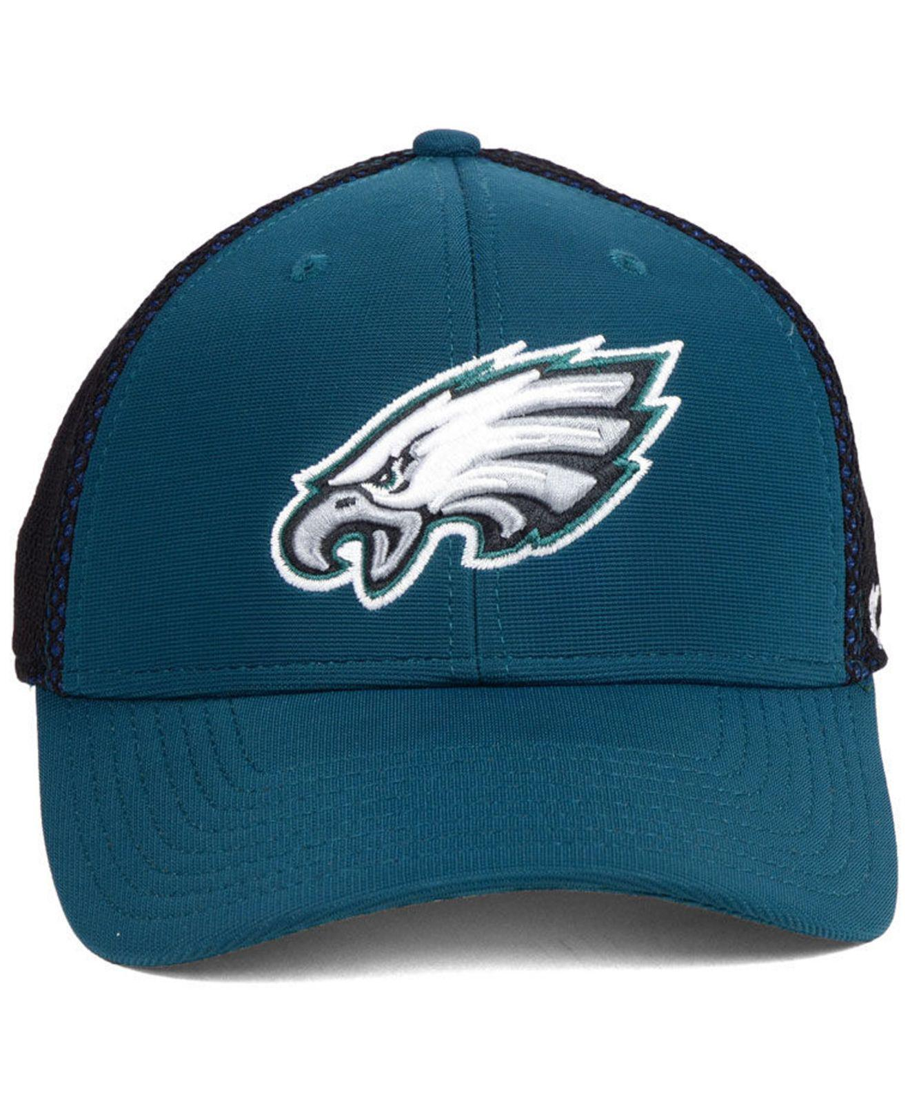 brand new 6c198 1ca8f ... get australia lyst 47 brand philadelphia eagles comfort contender flex  cap in blue for men e2c02