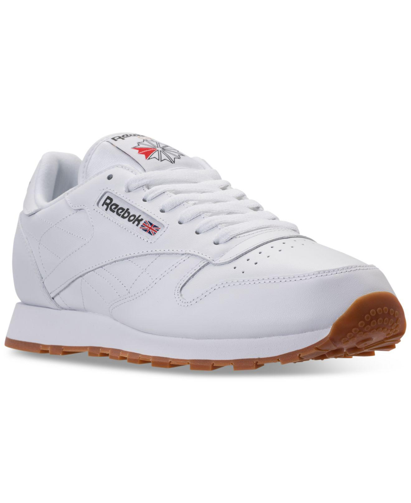 33df214346ec ... Leather Casual Sneakers From Finish Line for Men - Lyst. View fullscreen