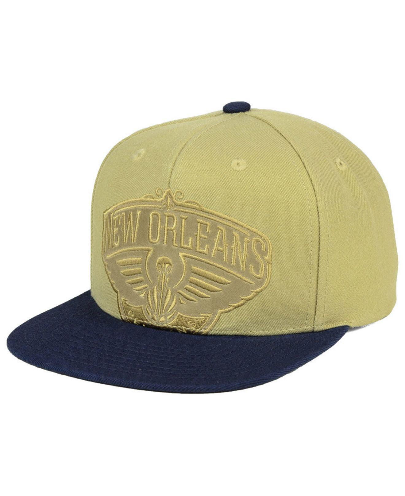 size 40 689b4 dafde ... logo snapback cap 09ccc 92f34  coupon code for lyst mitchell ness new  orleans pelicans cropped satin snapback f52a1 eb2ac