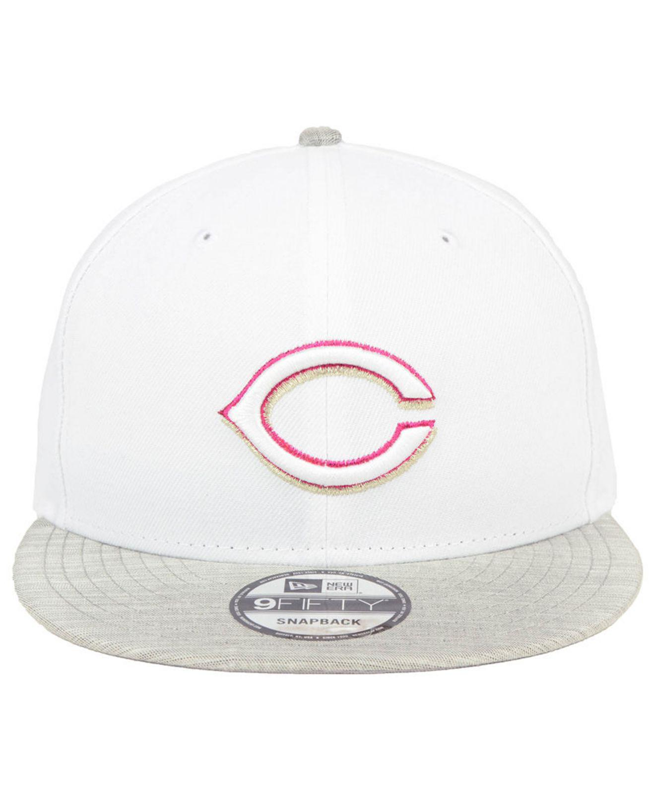 finest selection f5ab7 3569a ... ireland lyst ktz cincinnati reds bright heather 9fifty snapback cap in  white for men 60ec0 44821