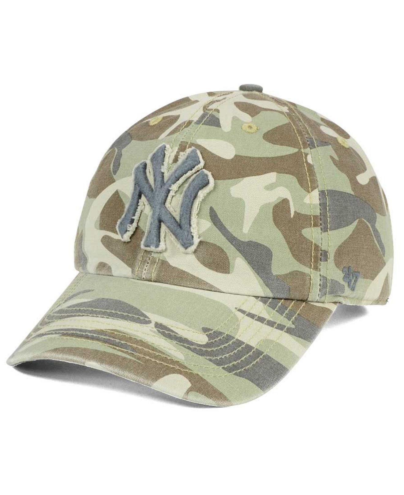 1cb8a3323f1 Lyst - 47 Brand Camo Tarpoon Clean Up Cap in Green for Men