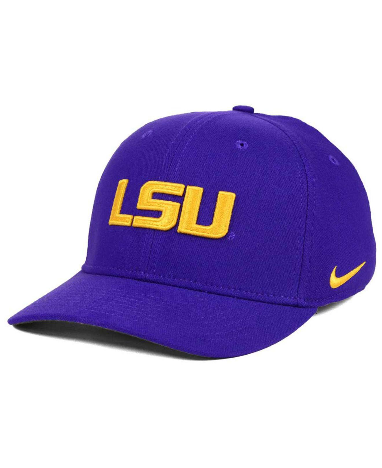 Lyst - Nike Lsu Tigers Classic Swoosh Cap in Purple for Men ad097d9dd52d