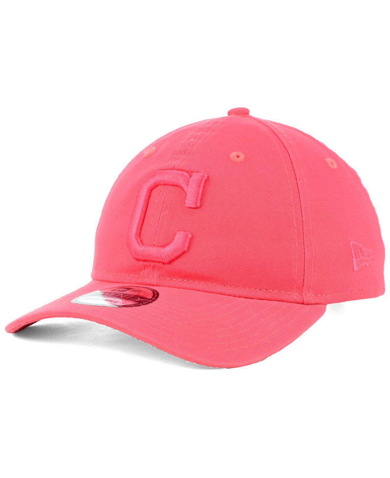 sports shoes 84a47 3b920 ... czech ktz. womens pink cleveland indians spring classic 9twenty cap  c720c 7158f