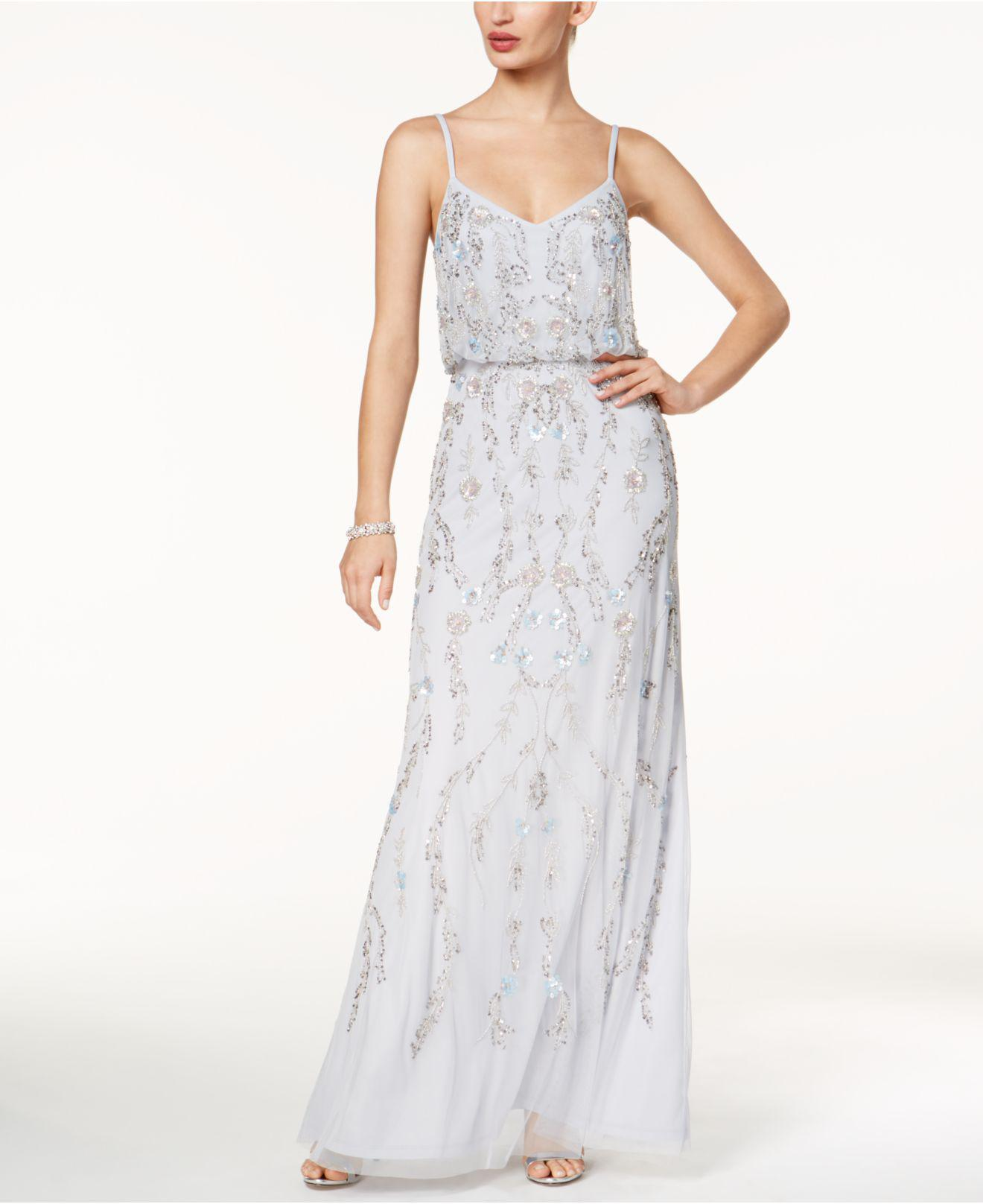 195c7ee009c6 Adrianna Papell. Women s Floral Beaded Blouson Gown