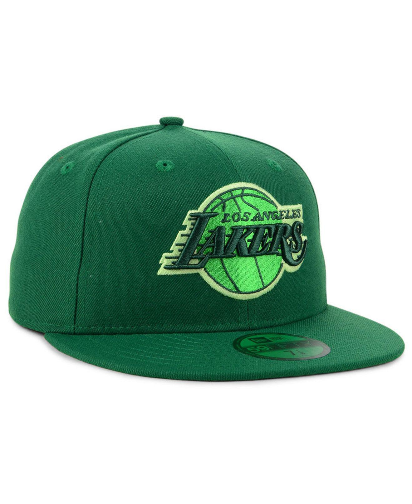 the best attitude a42e0 8fb64 KTZ - Green Los Angeles Lakers Color Prism Pack 59fifty Fitted Cap for Men  - Lyst. View fullscreen