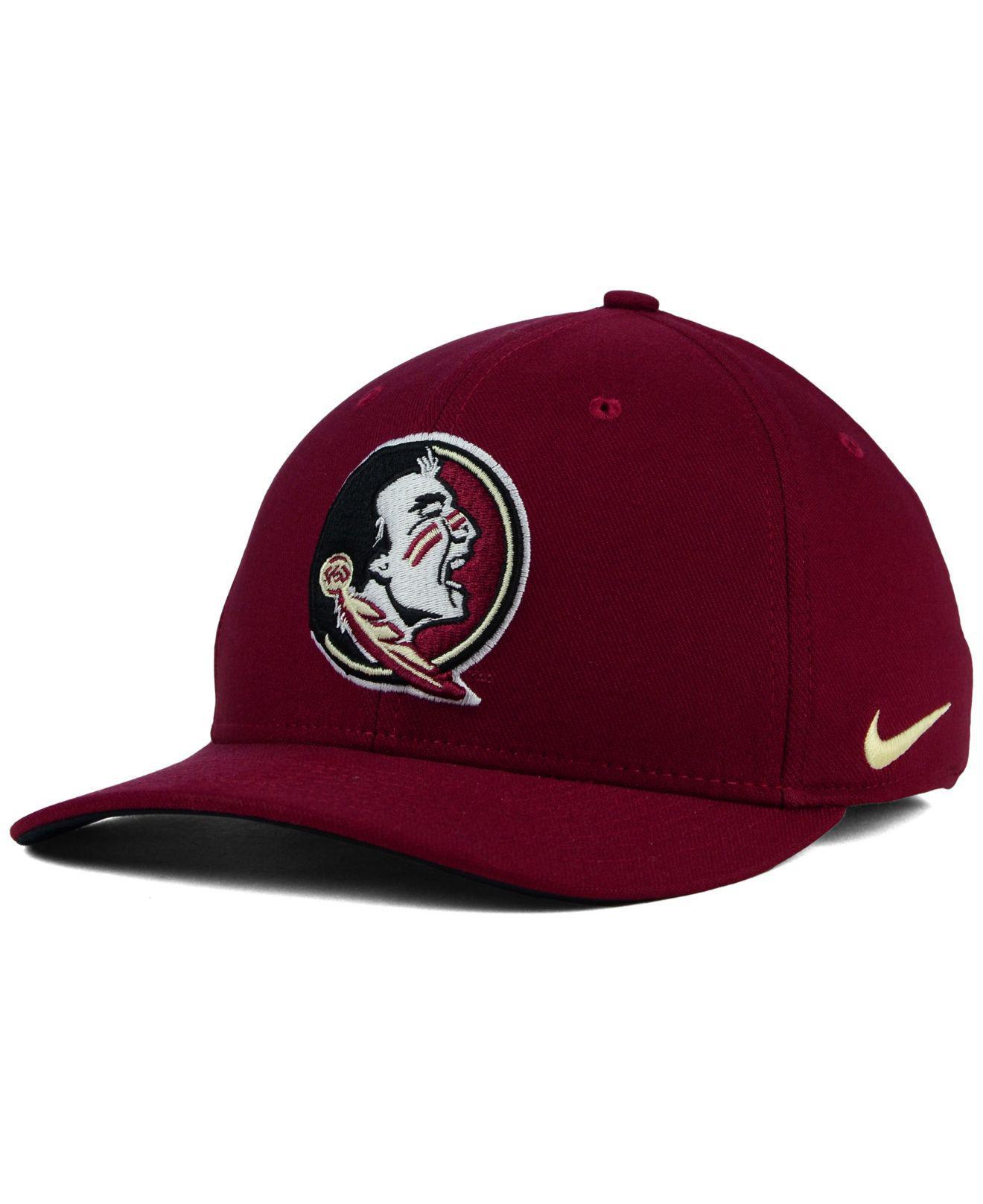 new style 72984 90cb9 Nike - Red Florida State Seminoles Classic Swoosh Cap for Men - Lyst. View  fullscreen