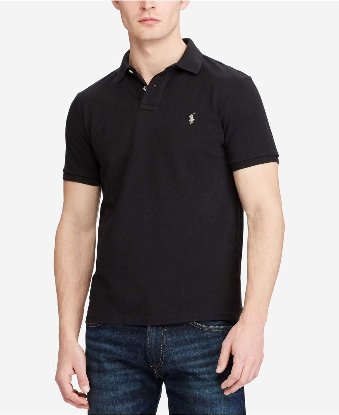 Lyst Polo Ralph Lauren Slim Fit Short Sleeve Polo Shirt In Black
