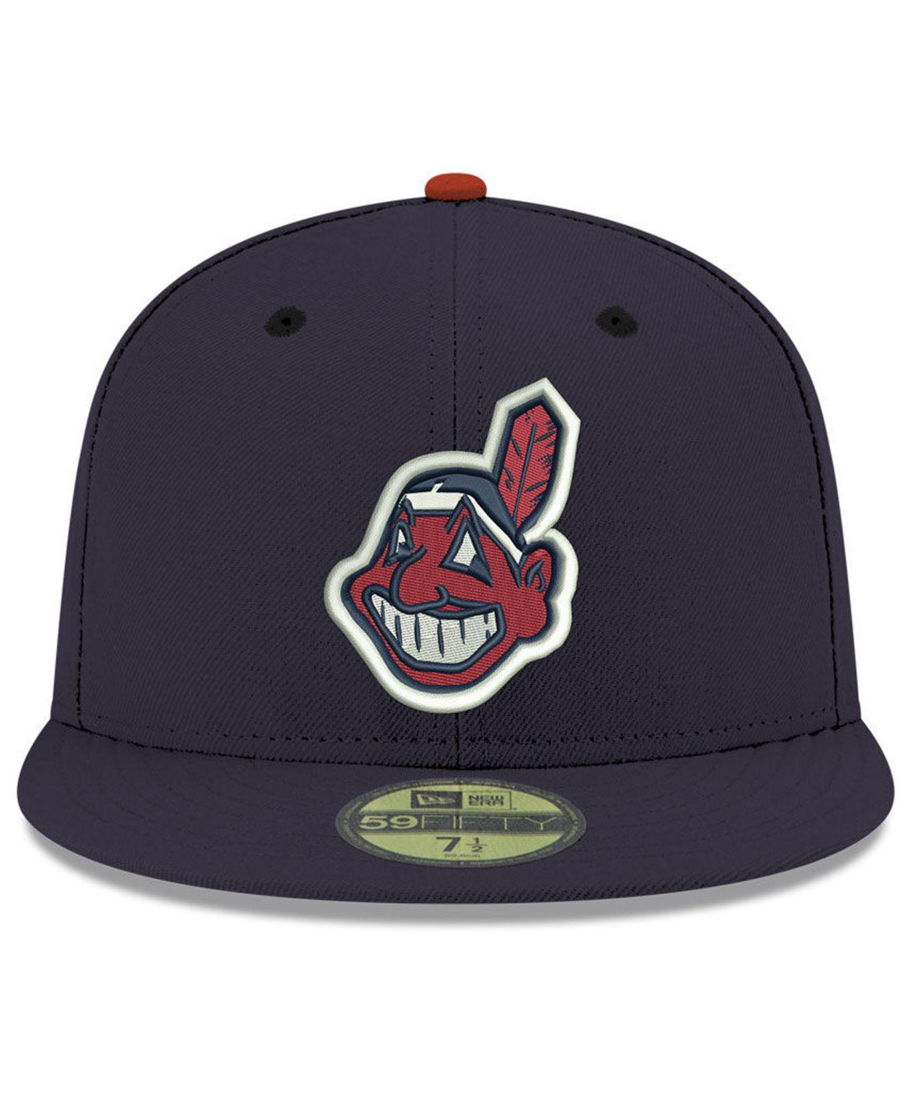 db83a4b9916595 ... best ktz. mens blue cleveland indians retro classic 59fifty fitted cap  41515 2e044
