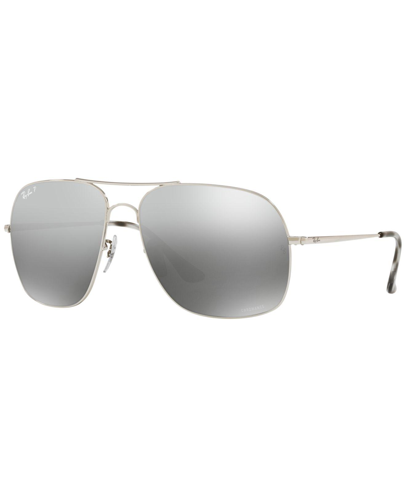 7d2a03e2e85 Ray-Ban. Men s Gray Polarized Sunglasses