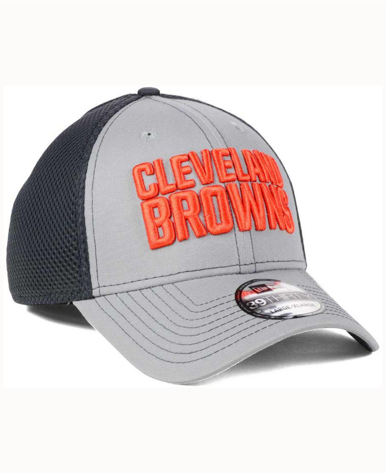 newest 2f661 ce32c ... canada lyst ktz cleveland browns grayed out neo 39thirty cap in gray  for men 9c825 082a9