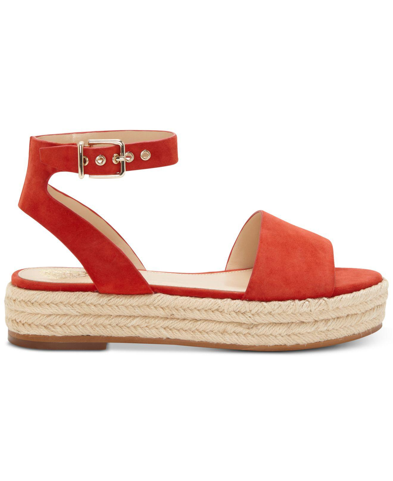 0629e53a29 Vince Camuto Kathalia Espadrille Wedge Sandal in Red - Lyst