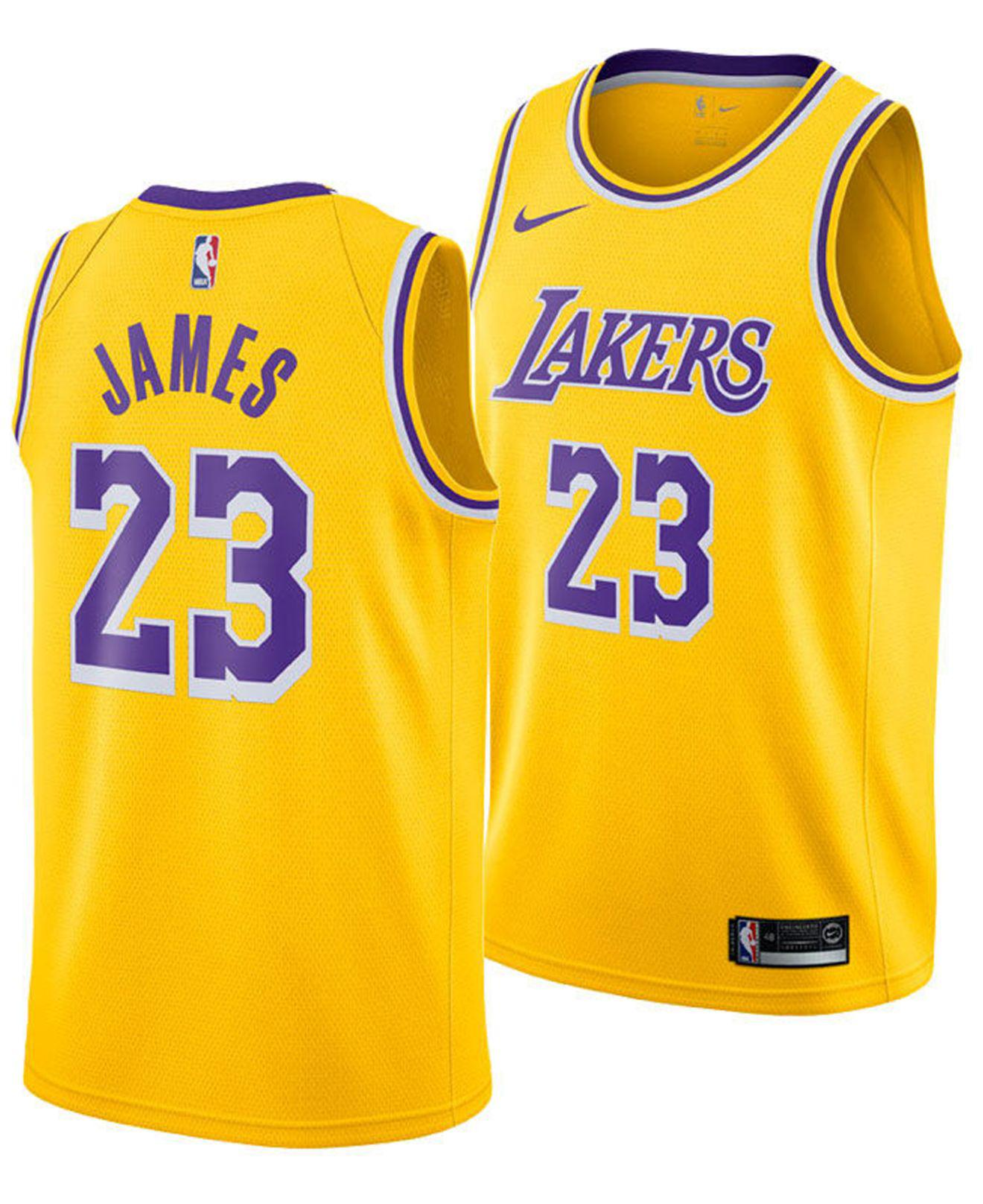 1176e8af126 Nike. Men s Yellow Lebron James Icon Edition Swingman (los Angeles Lakers) Nba  Connected Jersey
