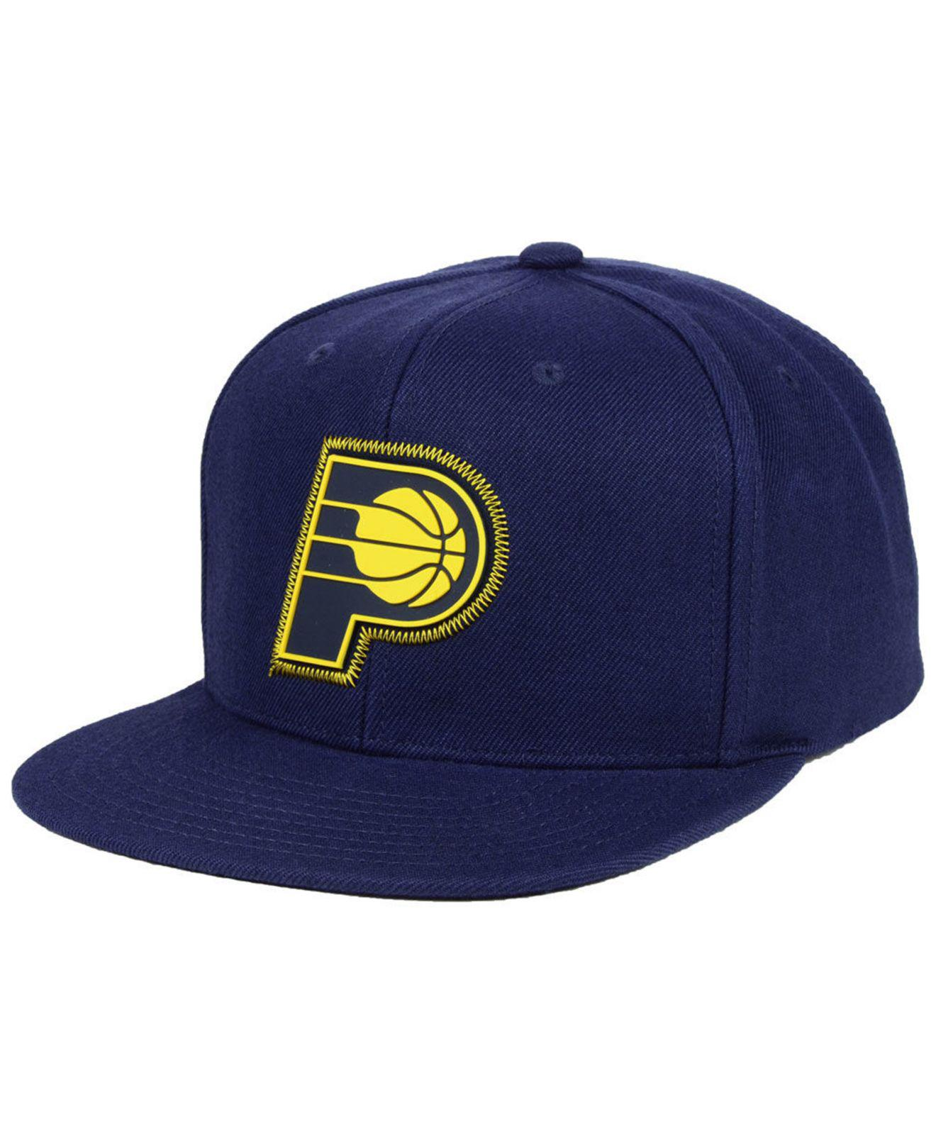 wholesale dealer e213f 94889 ... spain mitchell ness. mens blue indiana pacers zig zag snapback cap  8110b 8f510