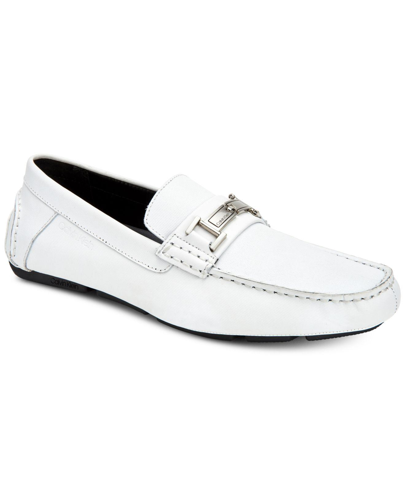 5efee8cabcd Calvin Klein - White Magnus Loafers - Lyst. View fullscreen