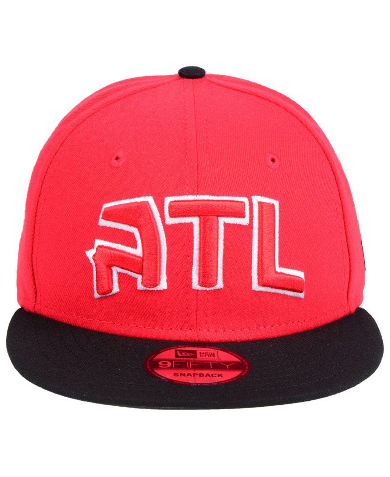 sports shoes 4c03f 0dd4f Lyst - KTZ Atlanta Hawks Basic 2 Tone 9fifty Snapback Cap in Red for Men