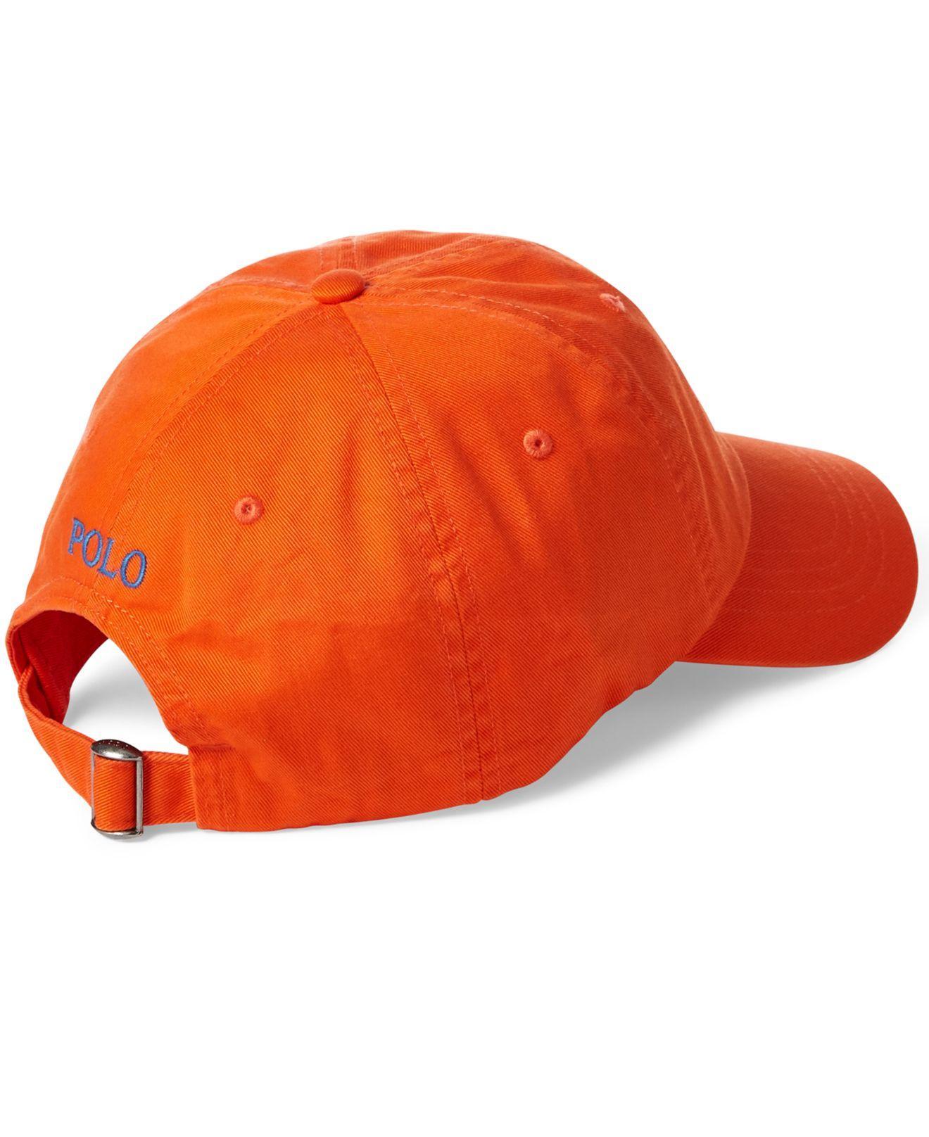 c80057faae5382 Polo Ralph Lauren Classic Chino Cotton Cap in Orange for Men - Save 26% -  Lyst