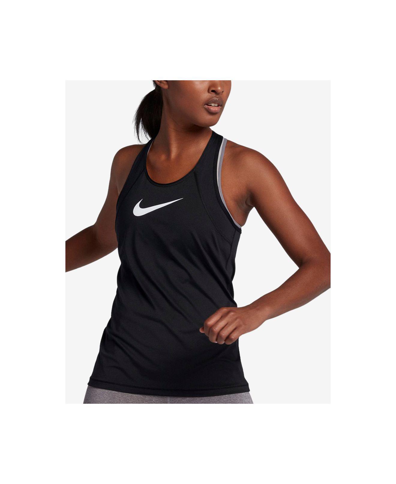 2024d4f646e58 Lyst - Nike Pro Mesh Dri-fit Tank Top in Black