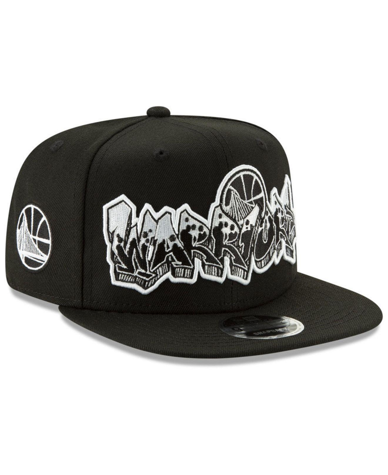 low cost 779e7 9b1d0 ... official store ktz. mens golden state warriors retroword black white  9fifty snapback cap fcdb0 8855e