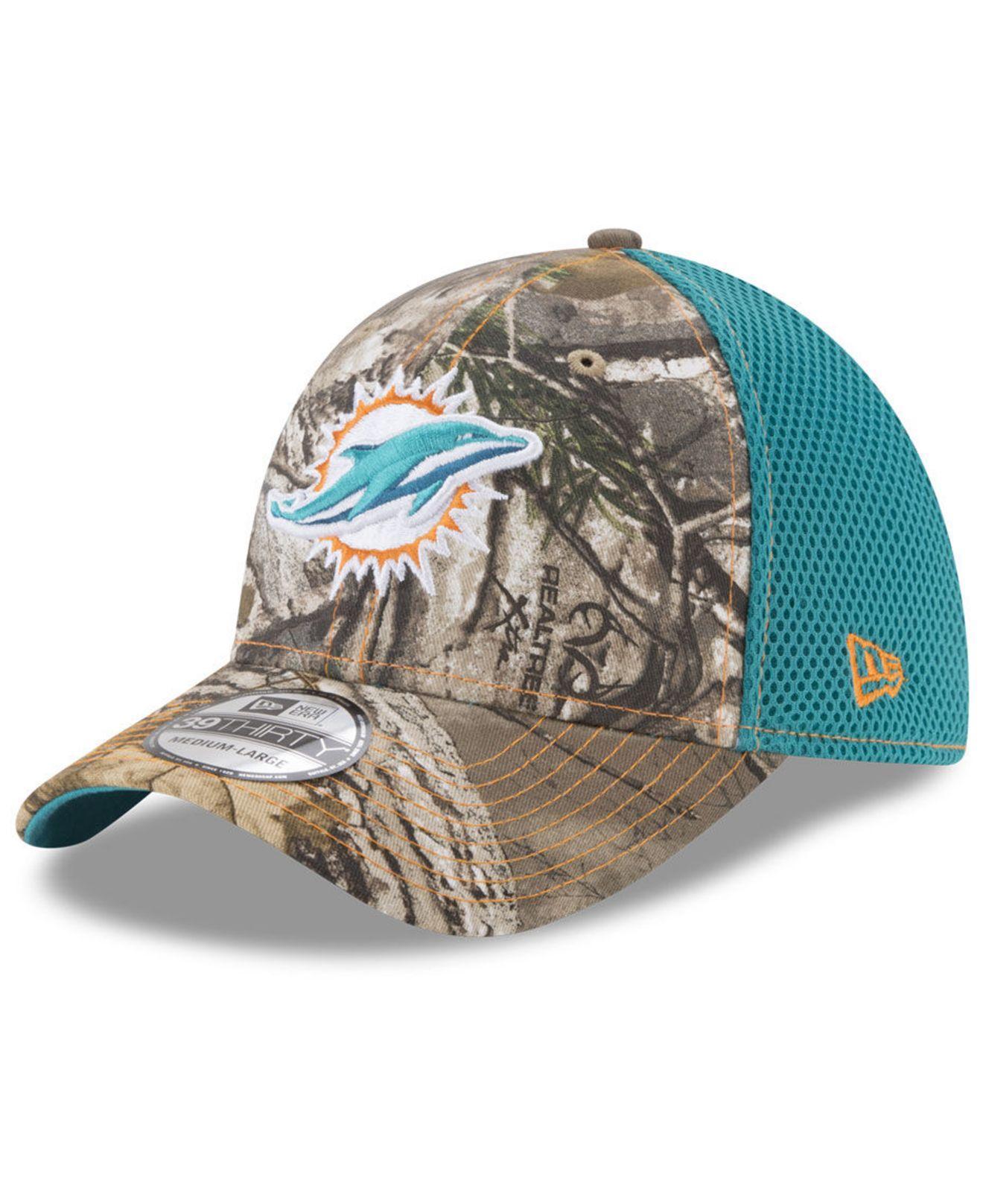 Lyst - Ktz Miami Dolphins Realtree Camo Team Color Neo 39thirty Cap ... caba5671a