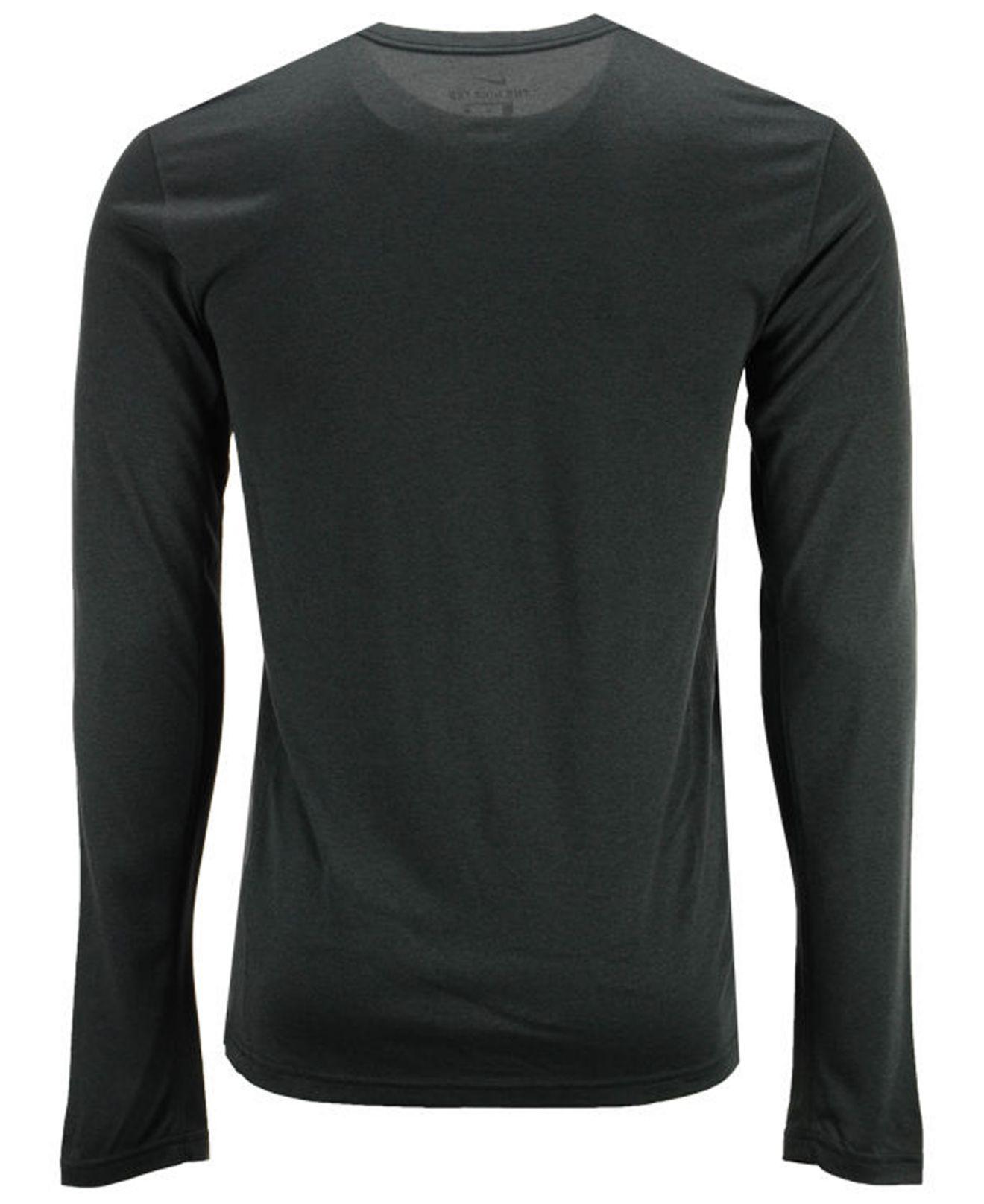 96652bc1 Lyst - Nike Men's Dri-fit Legend Wordmark Long Sleeve T-shirt in Black for  Men