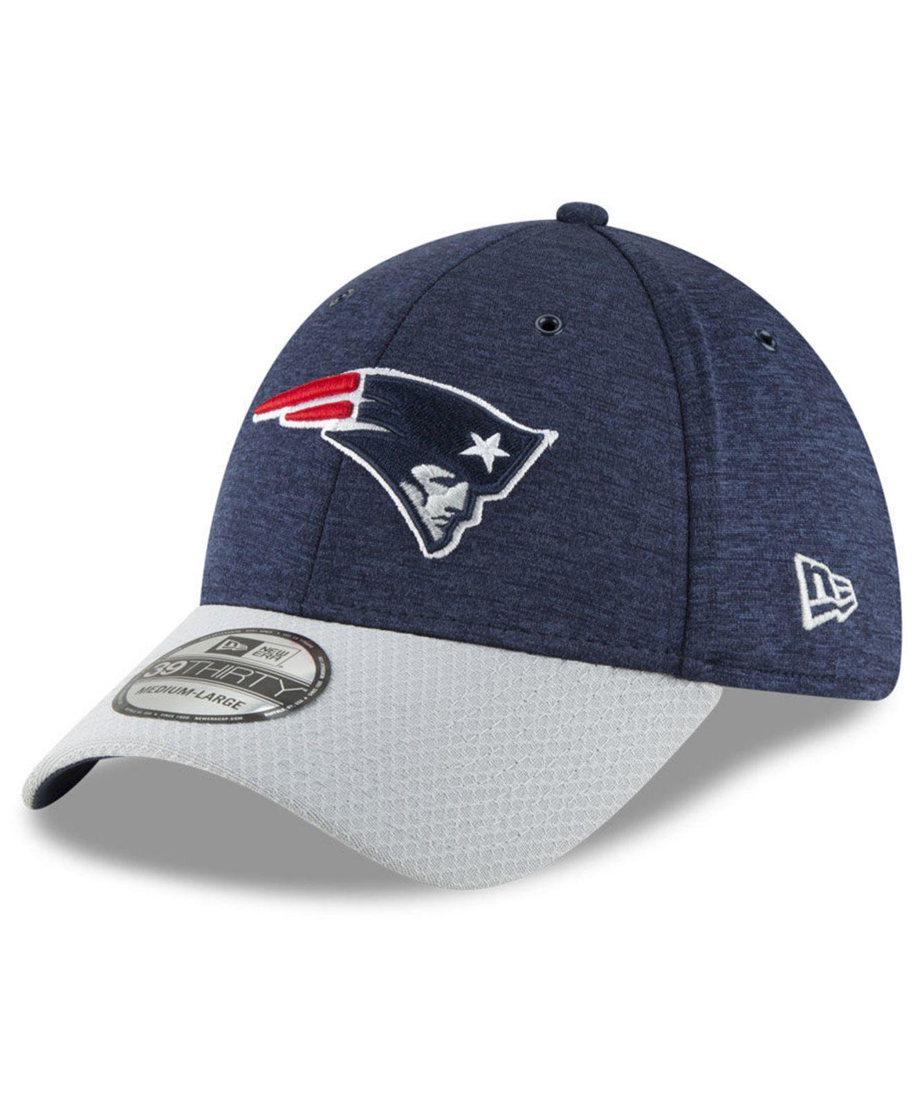 ce56d6483ae KTZ. Men s Blue New England Patriots On Field Sideline Home 39thirty Cap