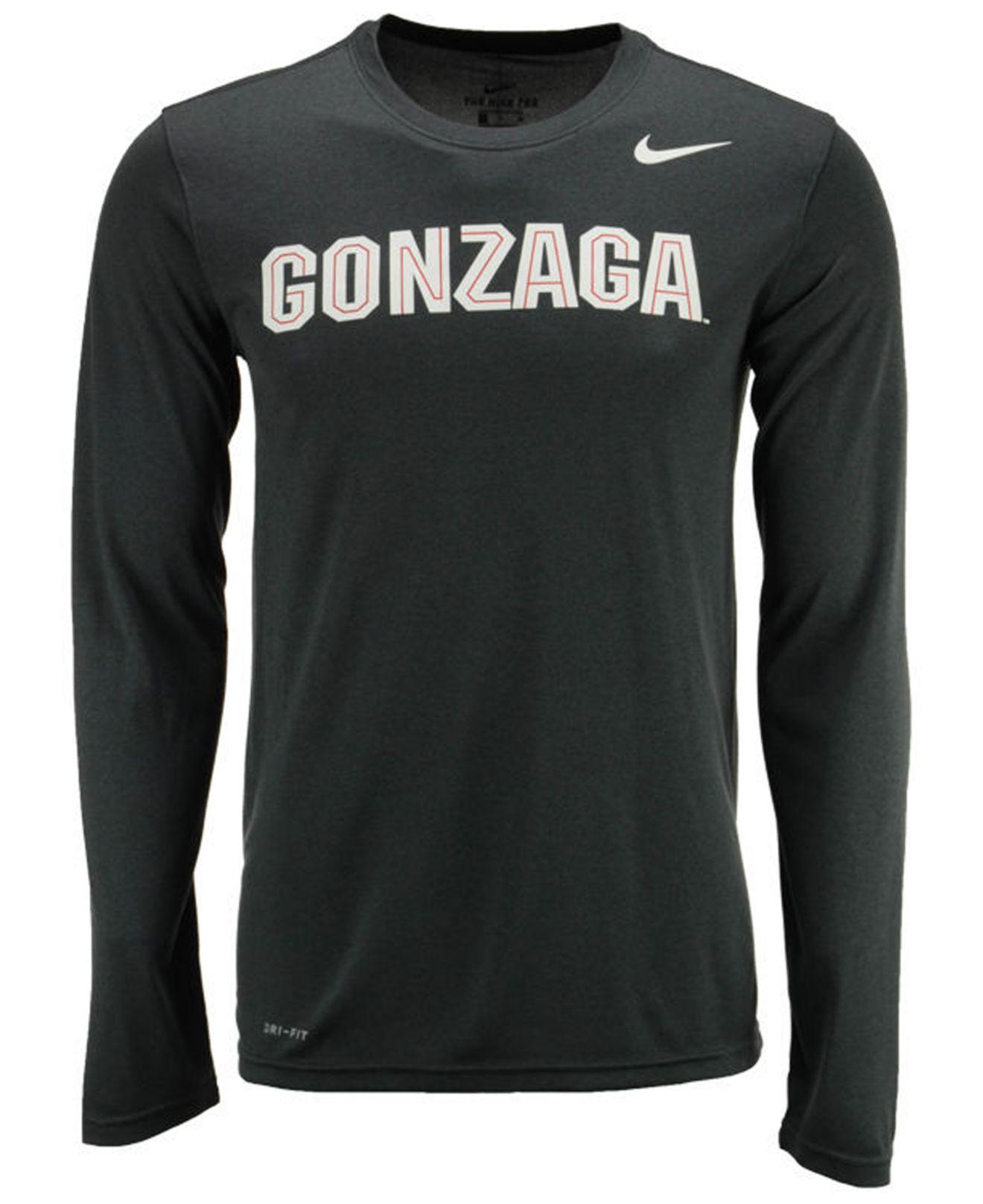 81d053c2 Lyst - Nike Men's Dri-fit Legend Wordmark Long Sleeve T-shirt in ...