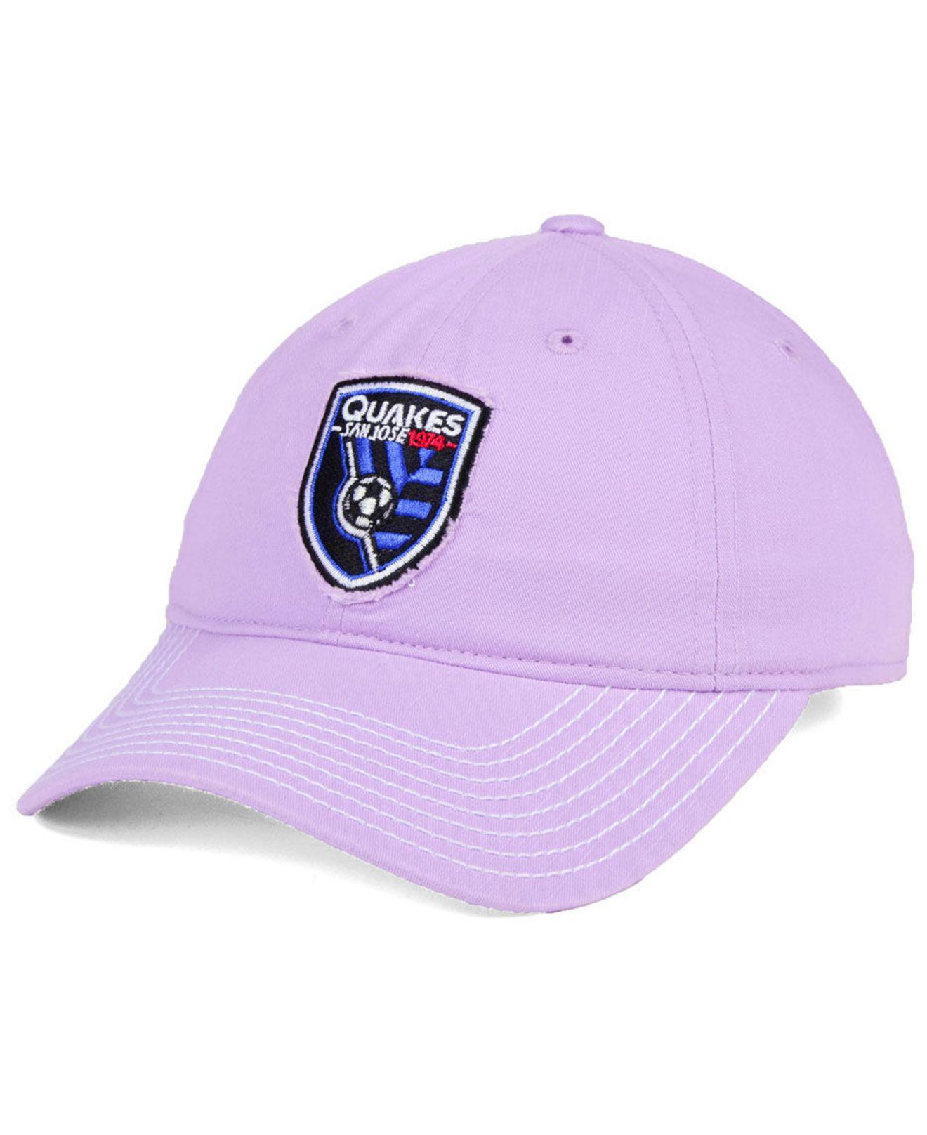 super popular 8f0c9 25987 ... australia adidas. womens purple san jose earthquakes pink slouch cap  cc5d3 cb679