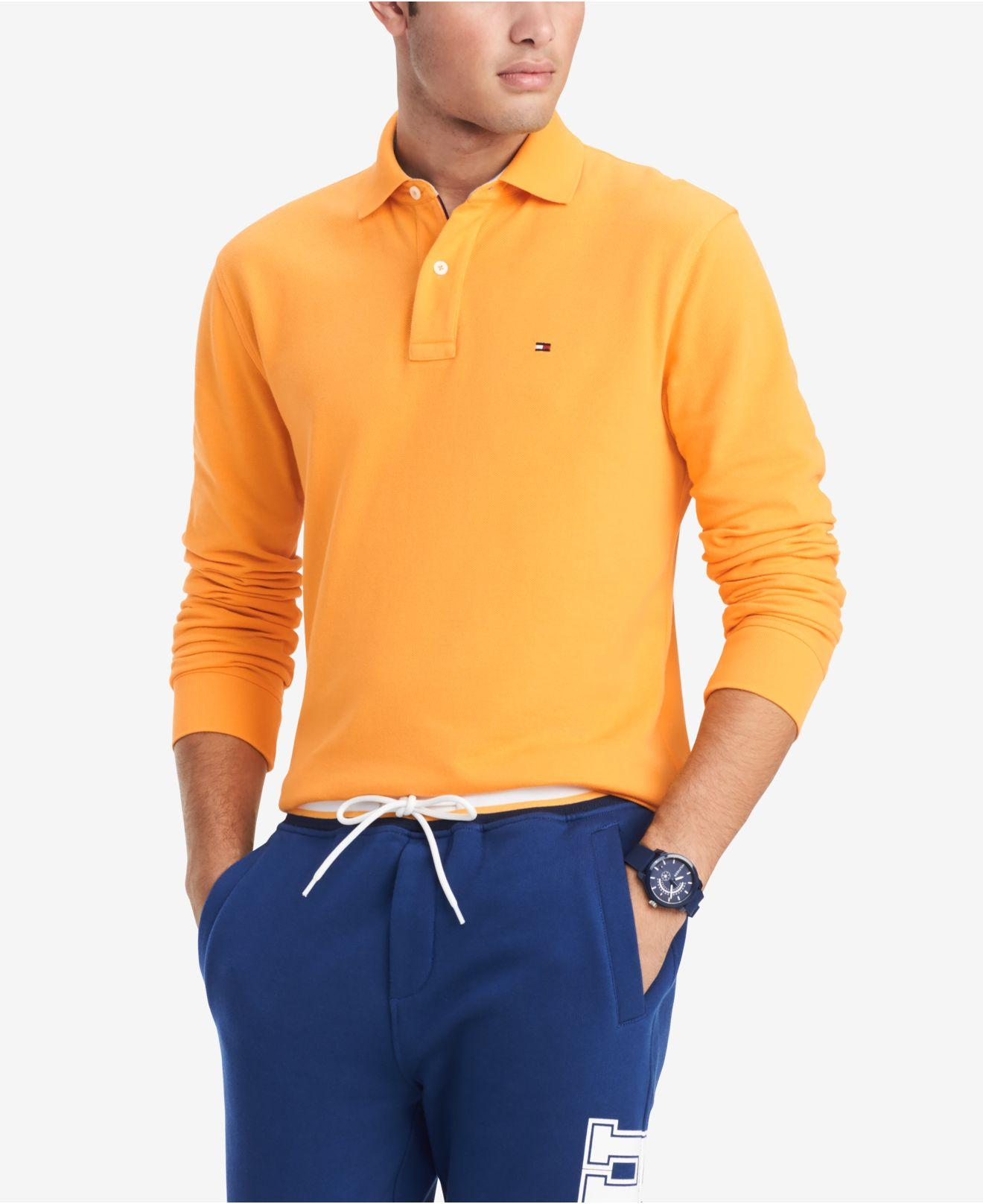30244005 Lyst - Tommy Hilfiger Classic Fit Long Sleeve Polo Shirt, Created ...