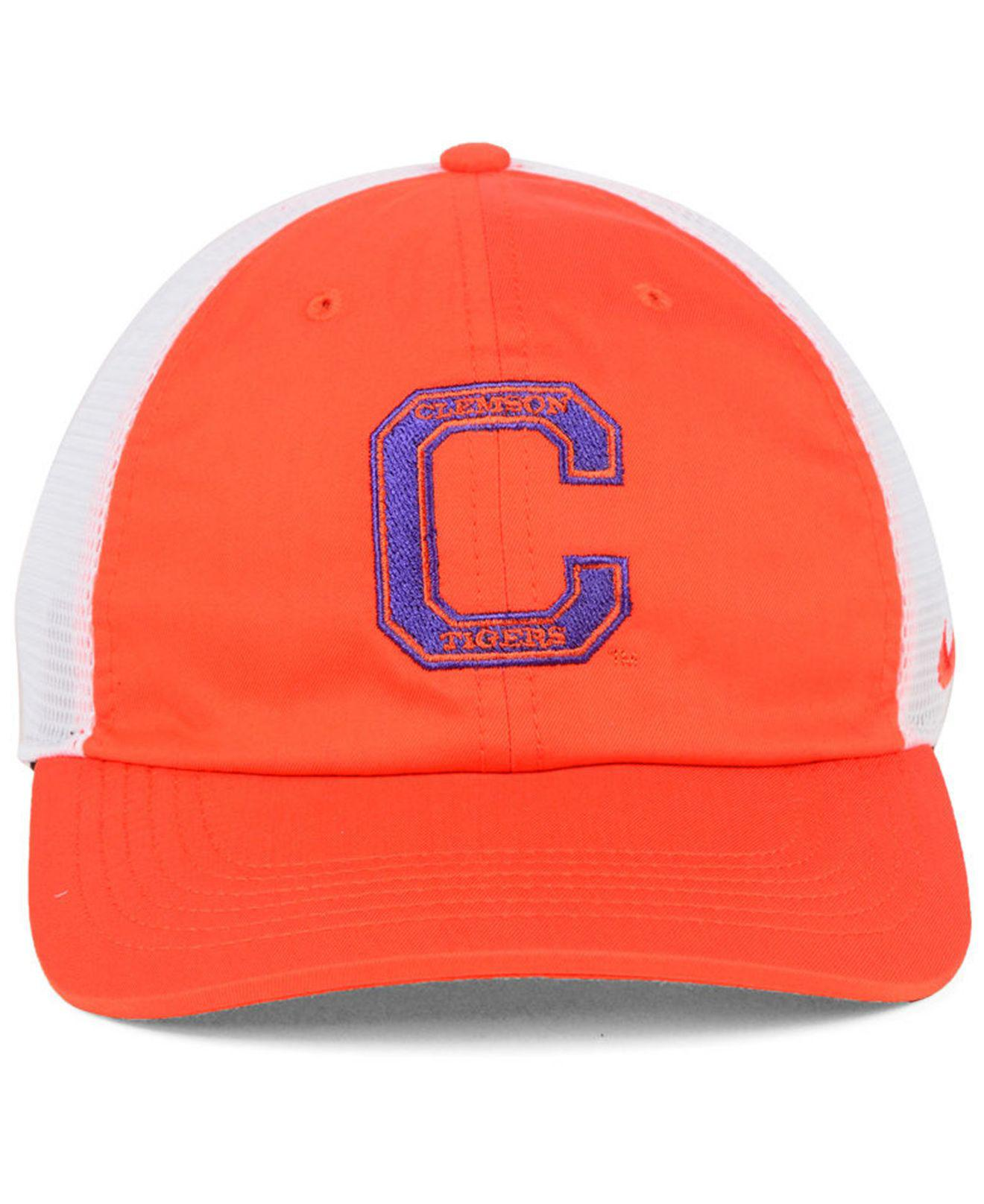 new concept ff8ec 042b5 ... italy lyst nike clemson tigers h86 trucker snapback cap in orange for  men 9e090 ab47d sweden nike mens clemson tigers orange dri fit ...