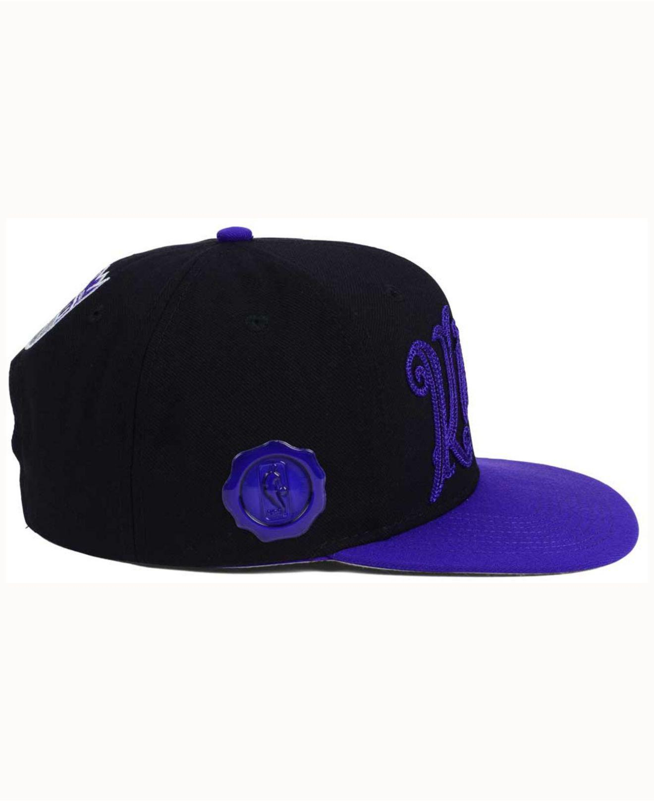 new product 111aa 80041 Lyst - adidas Sacramento Kings Seasons Greeting Snapback Cap in ...