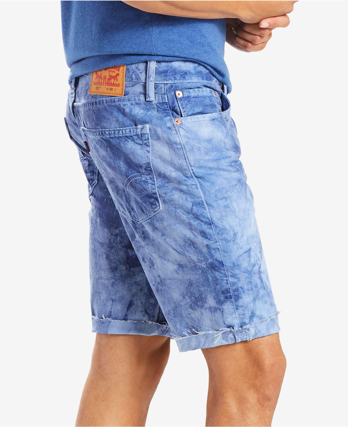 2d9d1973 Levi's 511 Slim-fit Cutoff Ripped Jean Shorts in Blue for Men - Lyst