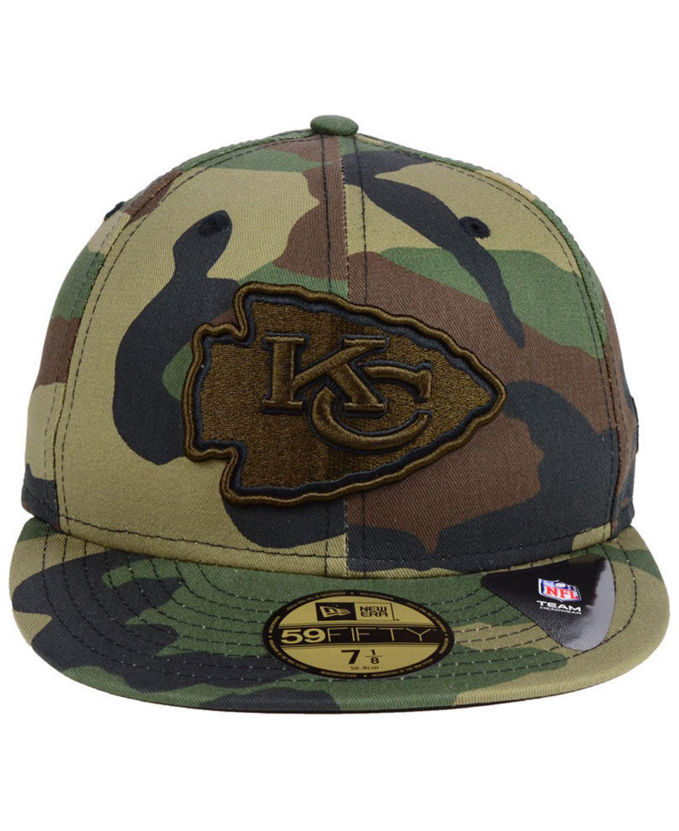 separation shoes 5828d 96735 Lyst - KTZ Kansas City Chiefs Woodland Prism Pack 59fifty-fitted Cap in  Green for Men