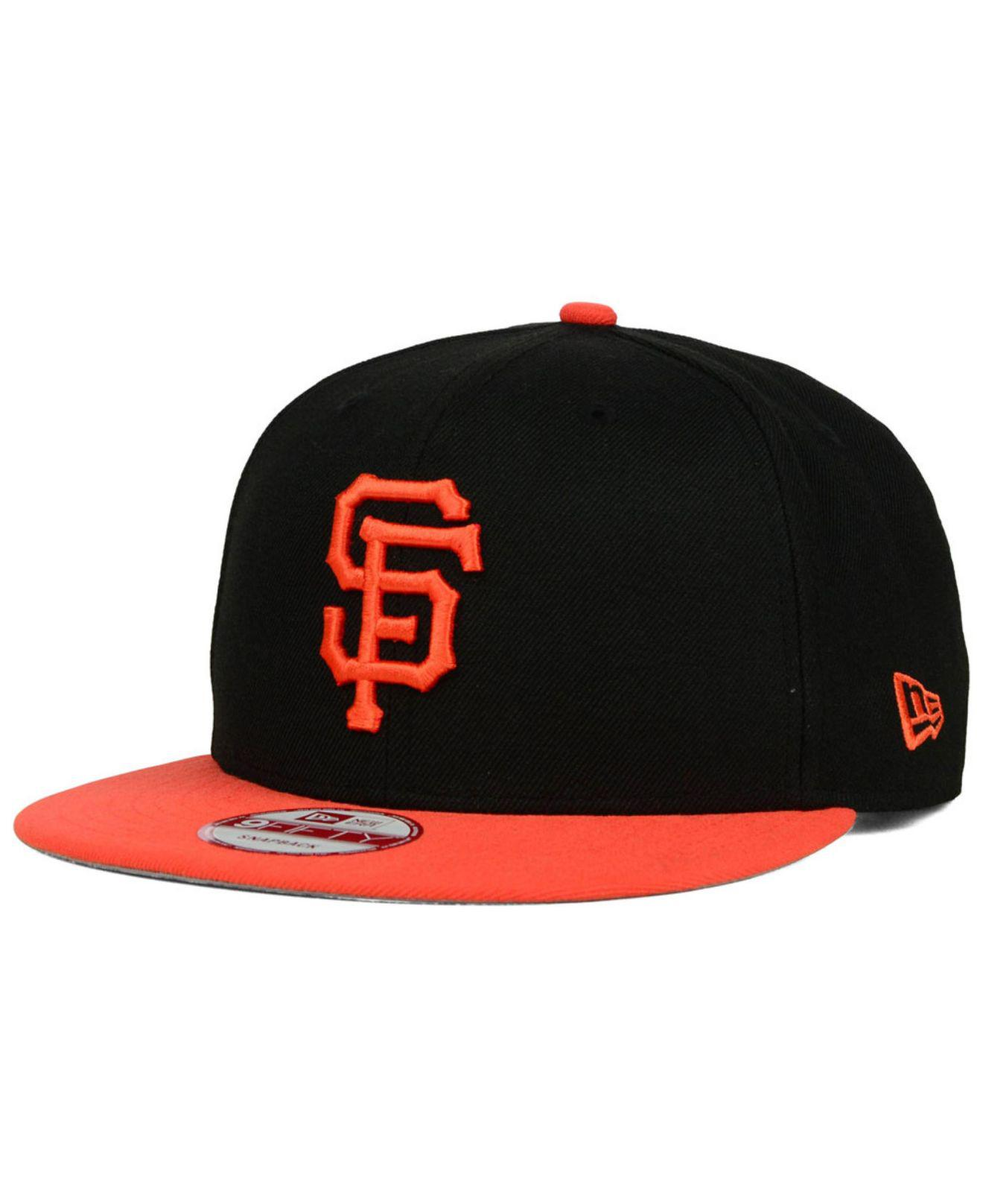 35634f9353a Lyst - KTZ San Francisco Giants 2-tone 9fifty Snapback Cap in Black ...