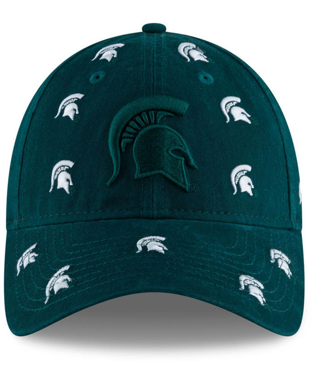 Lyst - KTZ Michigan State Spartans Logo Scatter Cap in Green 2ad927a8fe68