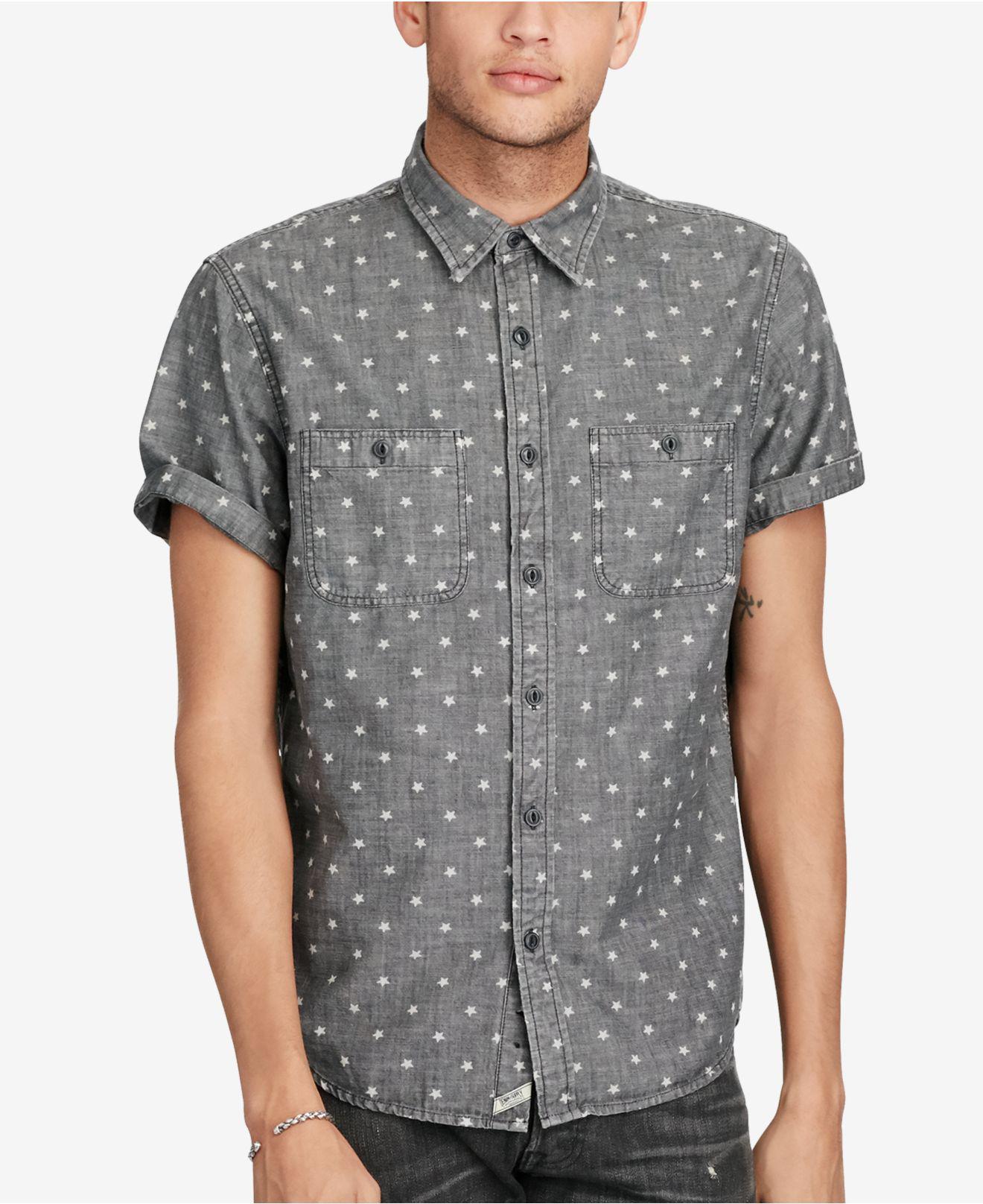 30f8fc8bb Lyst - Denim & Supply Ralph Lauren Men's Star Cotton Chambray Shirt ...