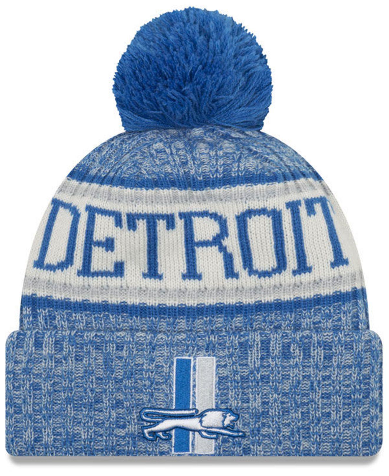 super popular 92852 c28cc KTZ. Women s Blue Detroit Lions Sport Knit Hat