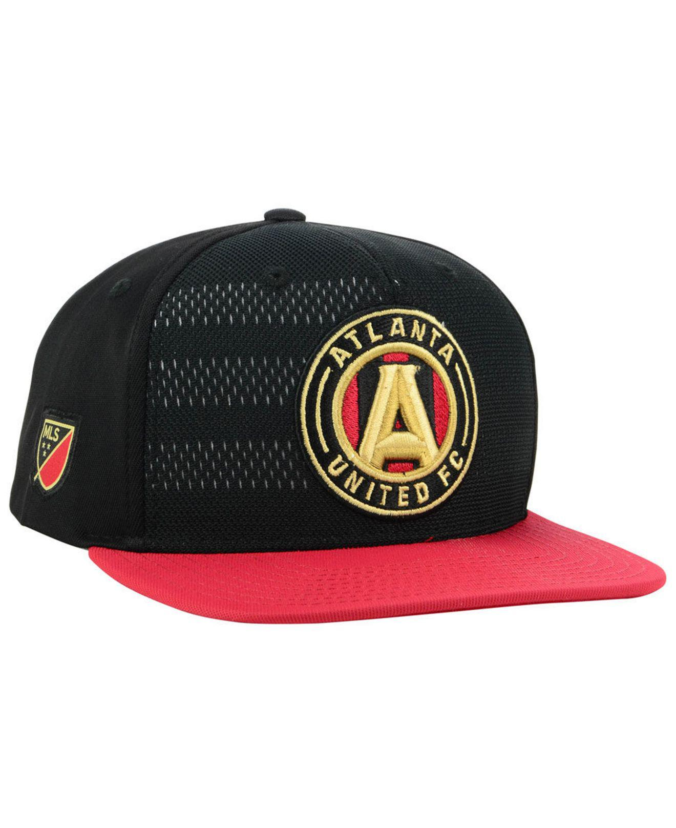 new style c2104 769fd ... team adjustable snapback hat 108fc 87608  czech lyst adidas atlanta  united fc authentic snapback cap in black for men 53045 0bb19