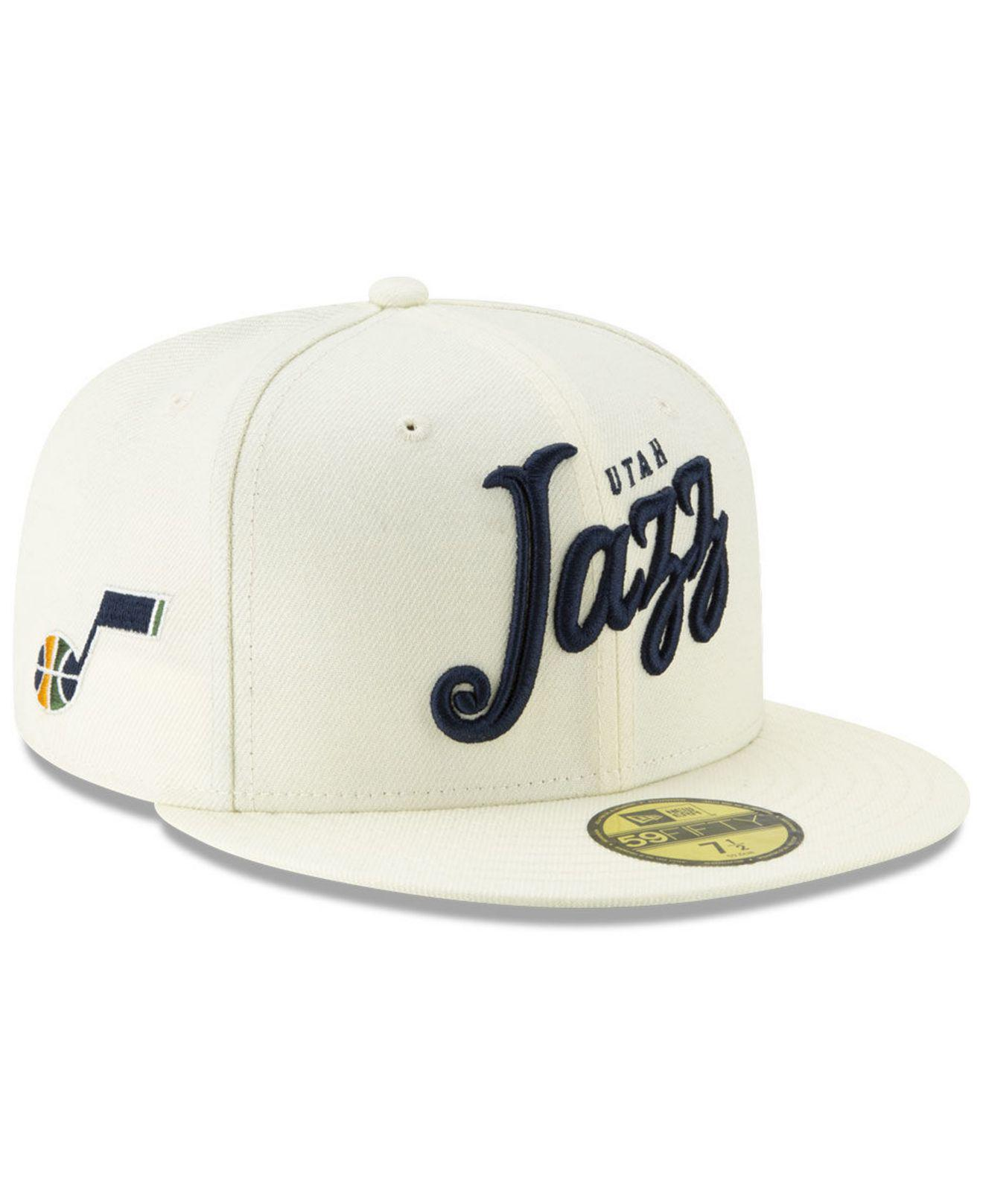 0363ab0d Lyst - KTZ Utah Jazz Jersey Script 59fifty-fitted Cap in Natural for Men