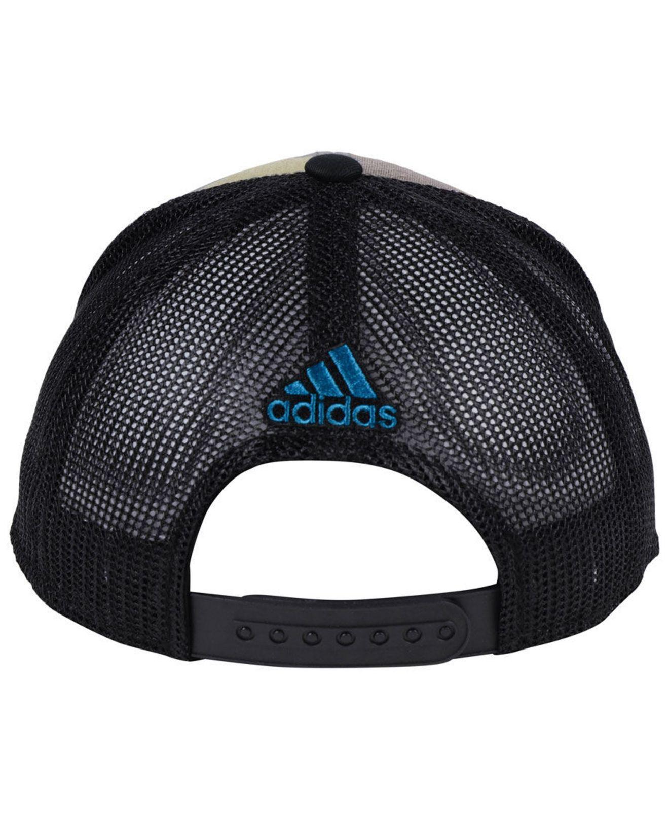 separation shoes 07d3c 0634a adidas San Jose Sharks Camo Trucker Cap in Black for Men - Lyst